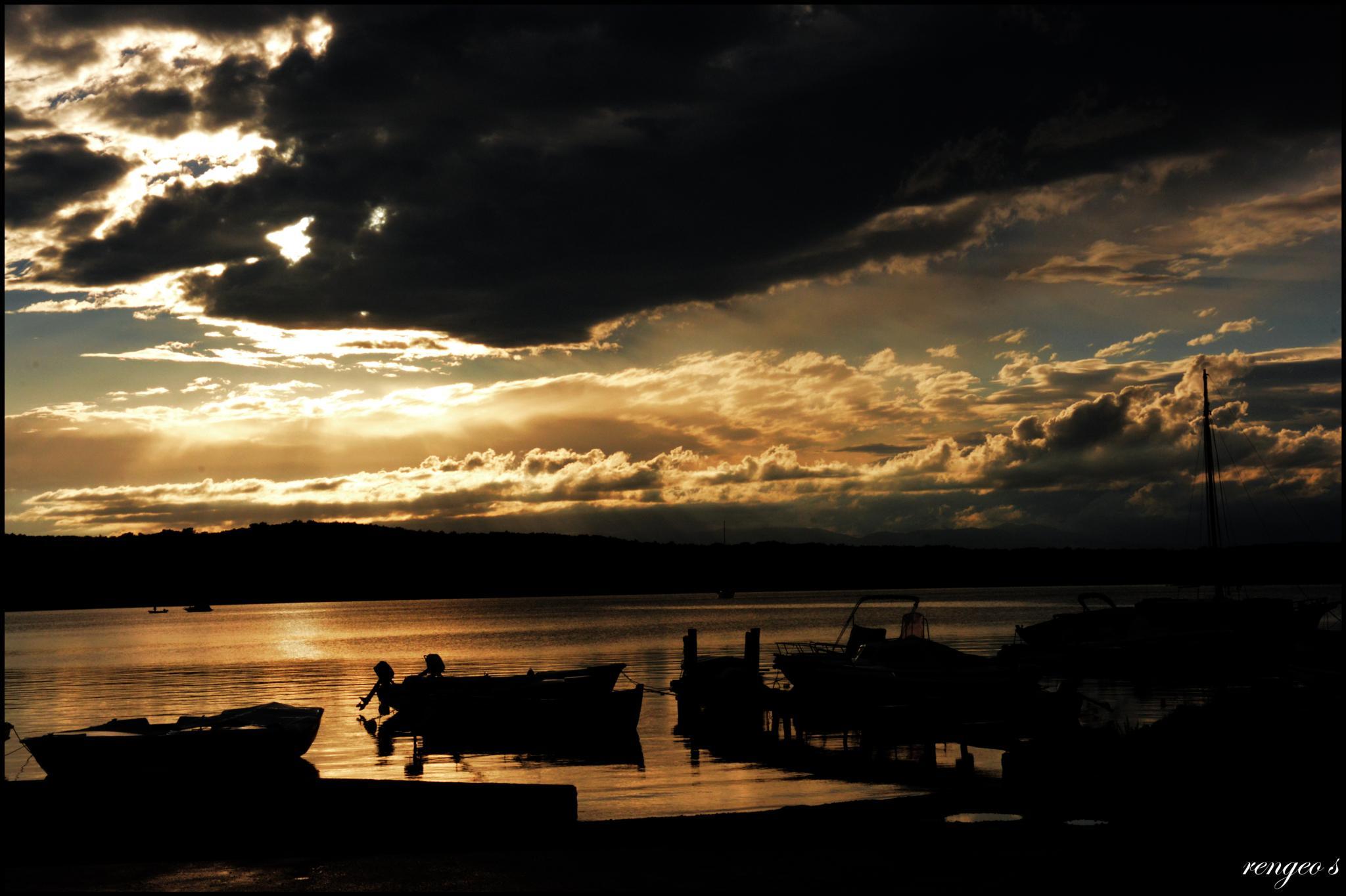 Photo in Landscape #sunset #sea #ships