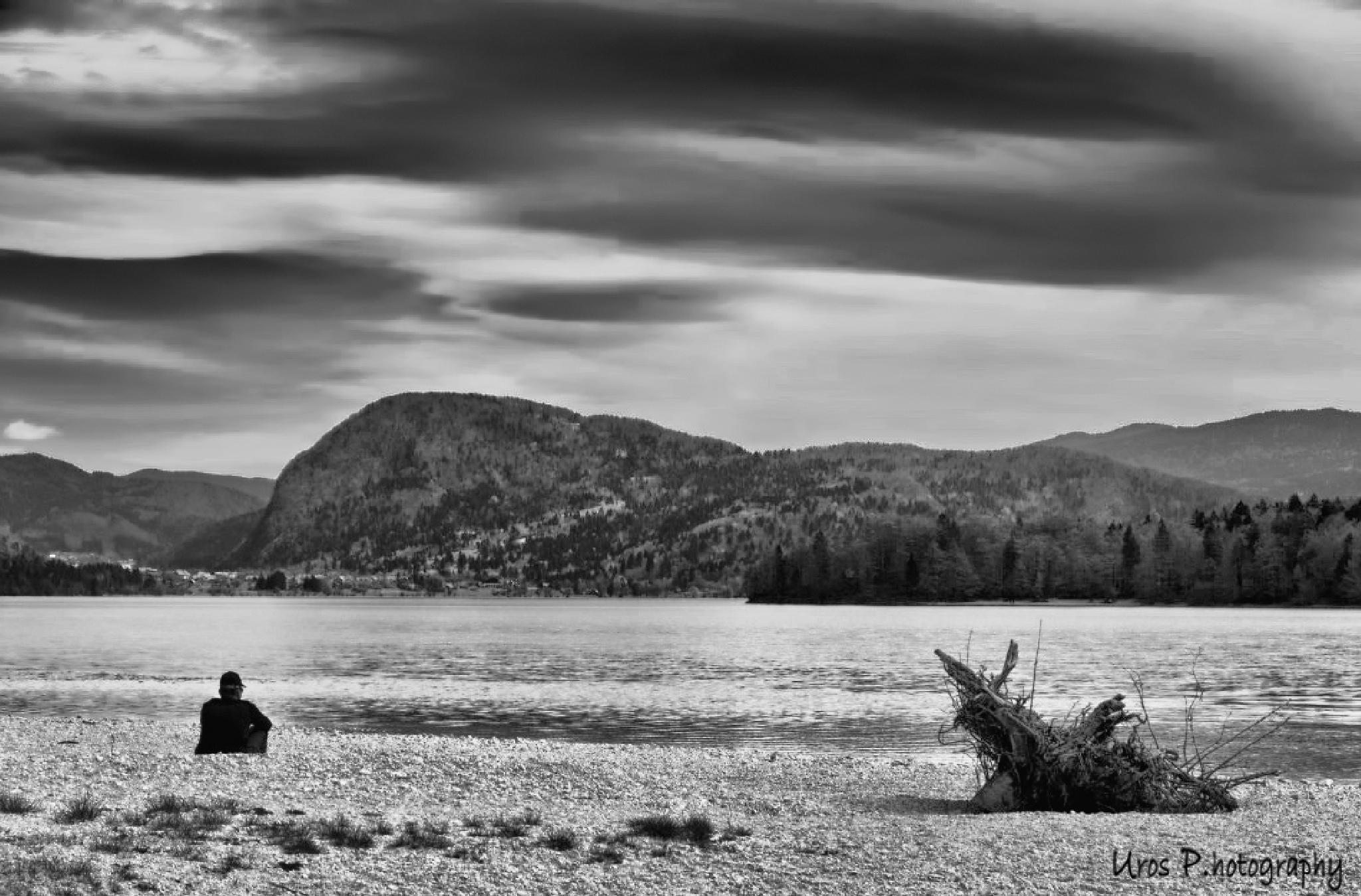 Photo in Black and White #lake #bohinj #slovenia #nikon #alps #water #black #white #d300 #awesome #amazing #fantastic #hike #hiking #nature #outdoor #awe-inspiring #exceptional