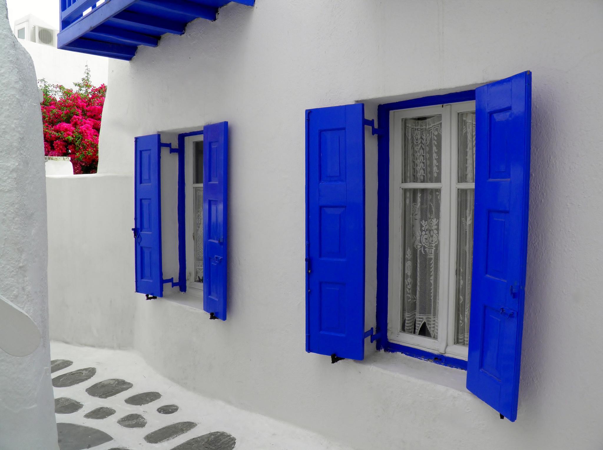 Santorini house  by Tamara M. Silvestre
