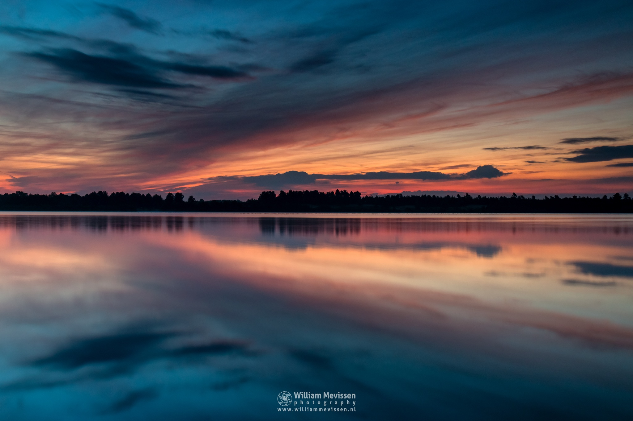 Painted Sky Reflections by William Mevissen