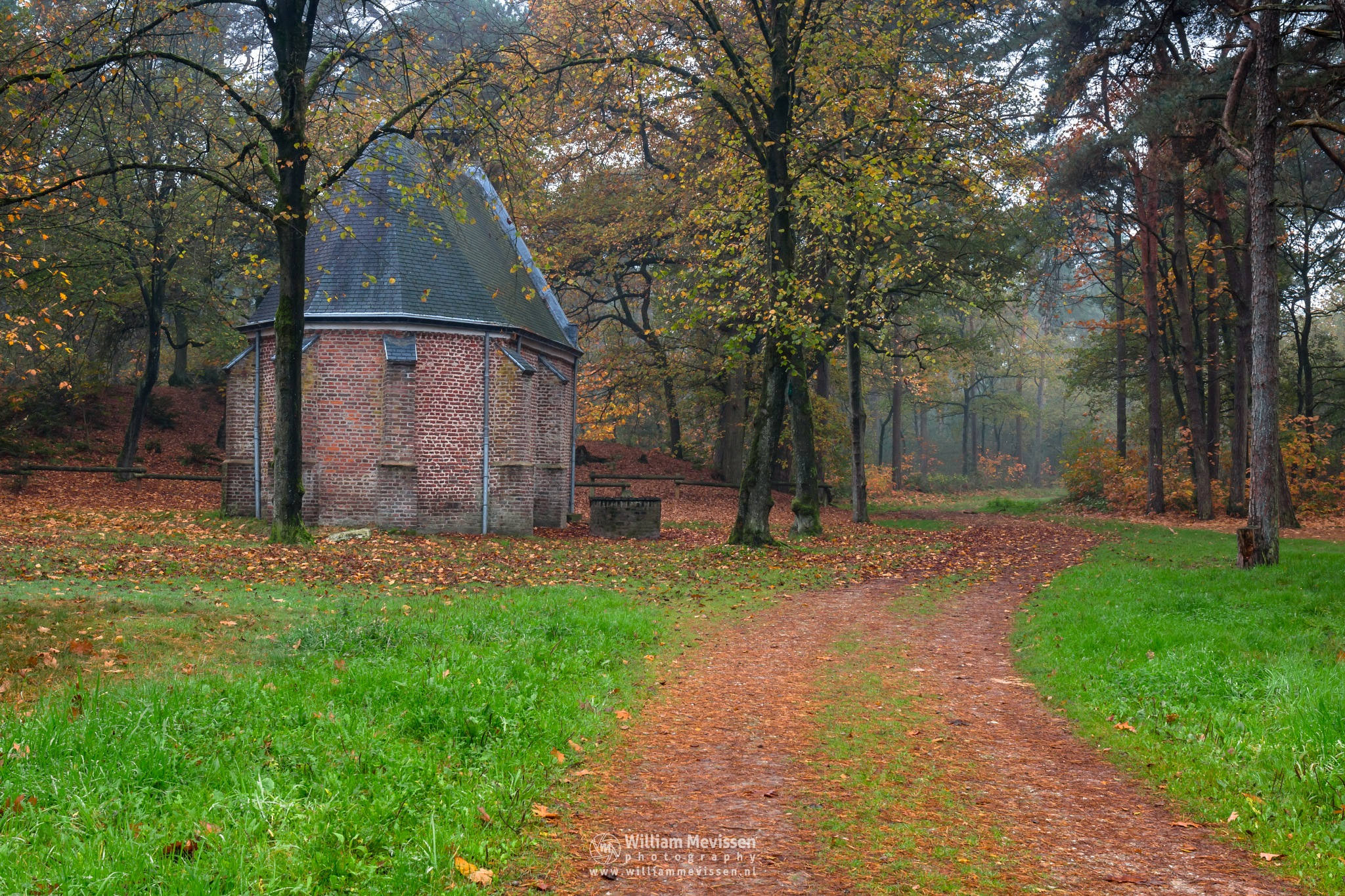 The Chapel In The Forest by William Mevissen