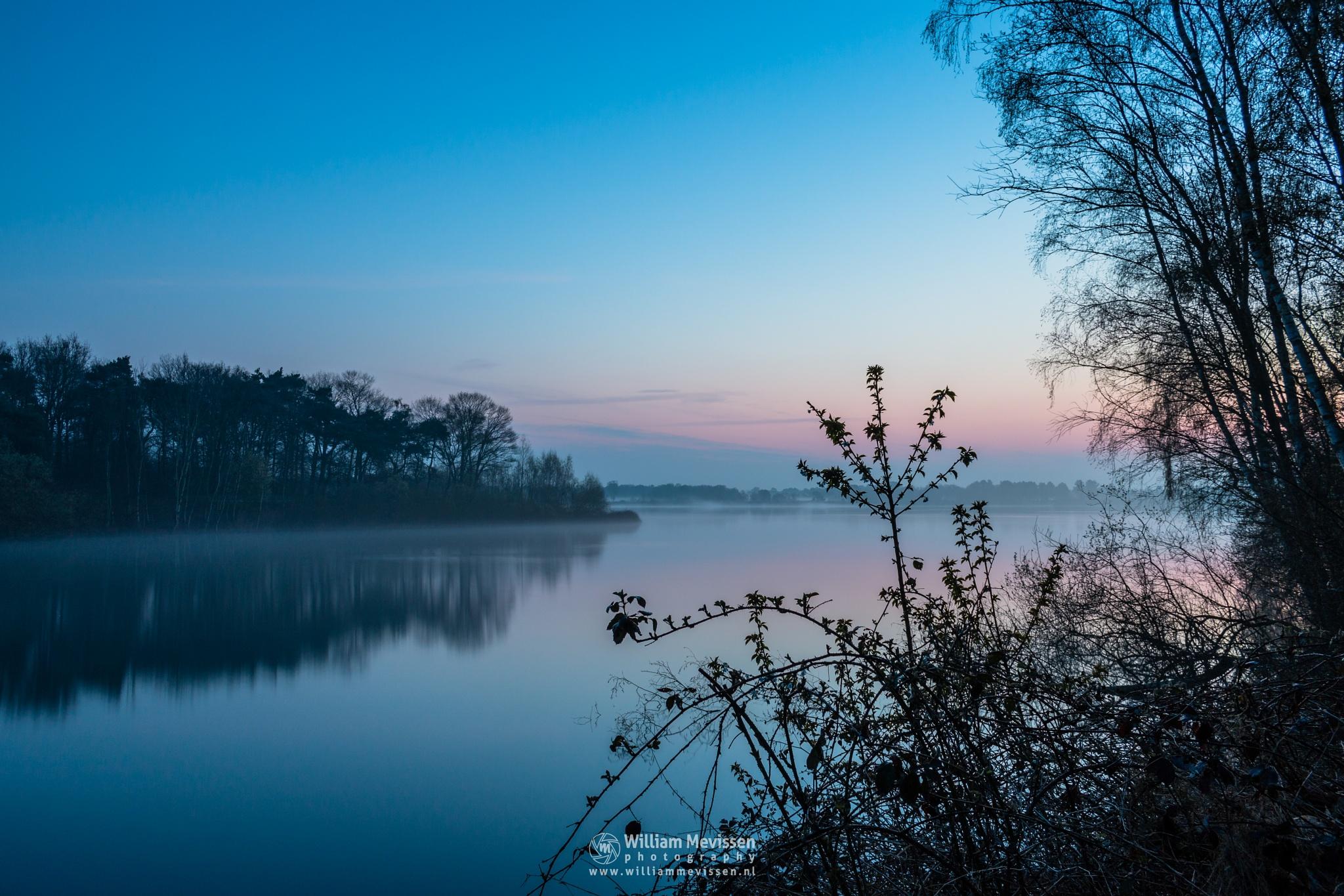 Misty Twilight Bay View by William Mevissen