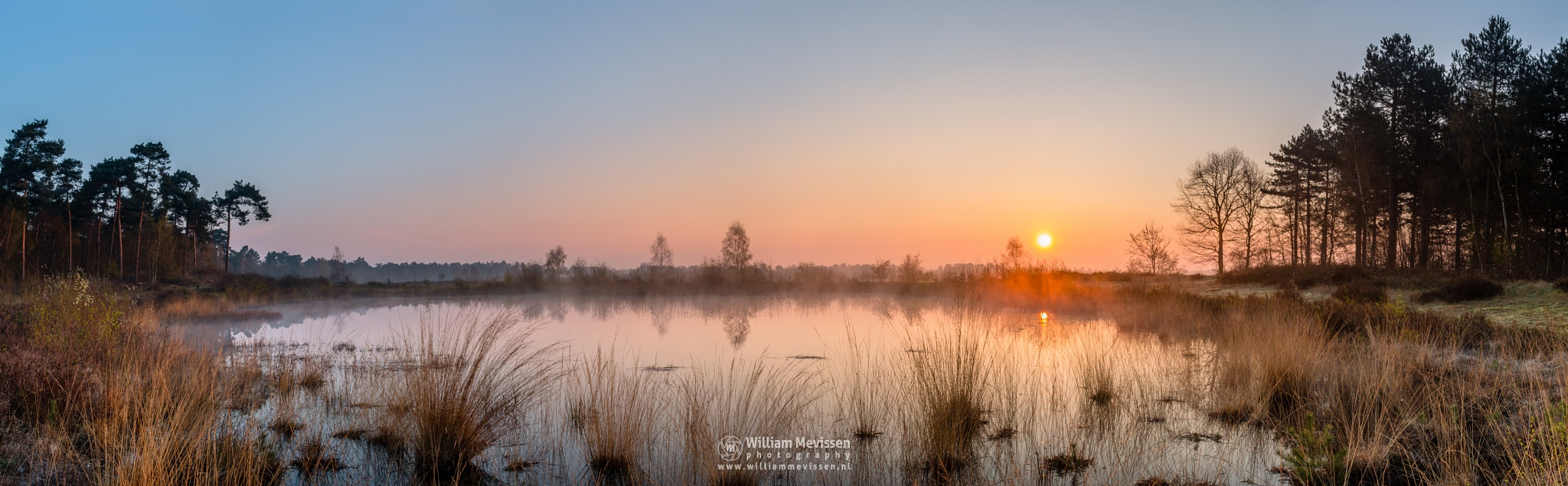 Panorama 'Misty Sunrise Fen' by William Mevissen