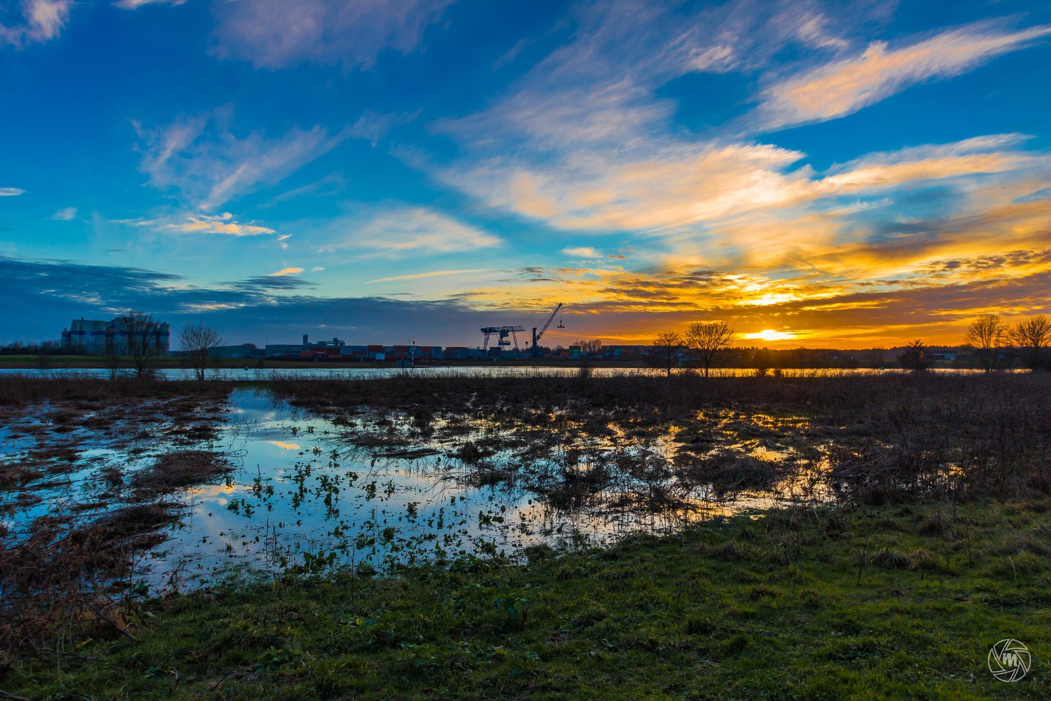 Industrial Sunset by William Mevissen