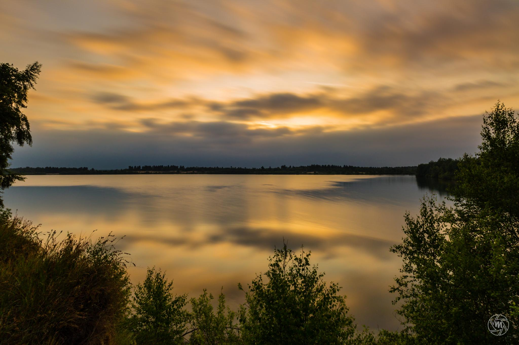 Cloudy Golden Reflections by William Mevissen
