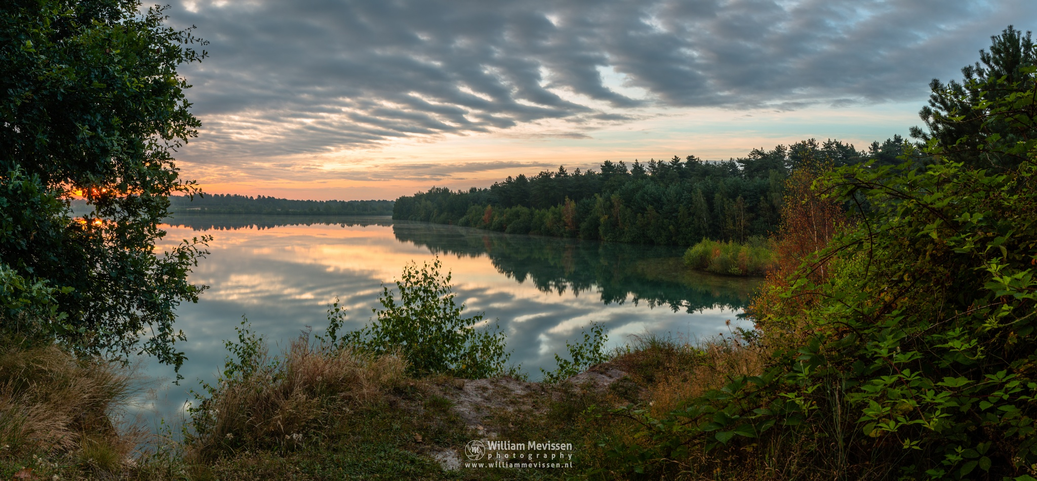 Photo in Landscape #trees #pine #pine forest #forest #lake #reindersmeer #maasduinen #limburg #noord-limburg #well #national park #nature #green #sunrise #colors #light #serene #view #viewpoint #clouds #cloudy