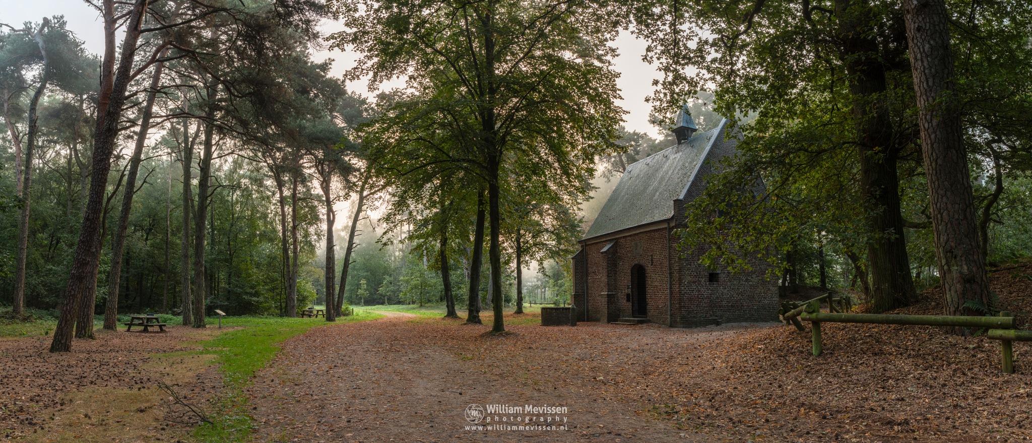 Panorama - Misty Morning Willibrorduskapel by William Mevissen