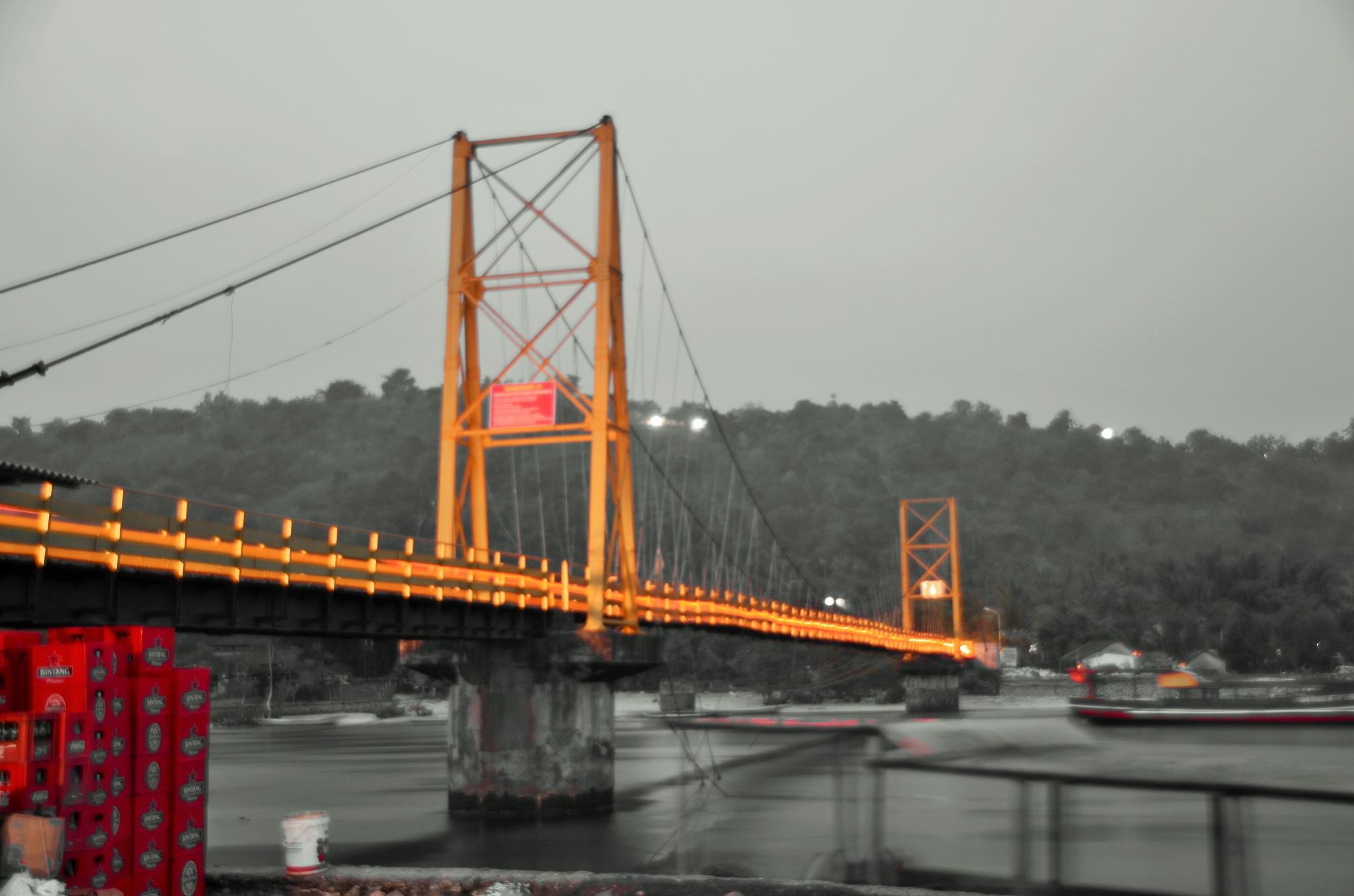 yellow bridge (Jembatan Kuning) by arthamade