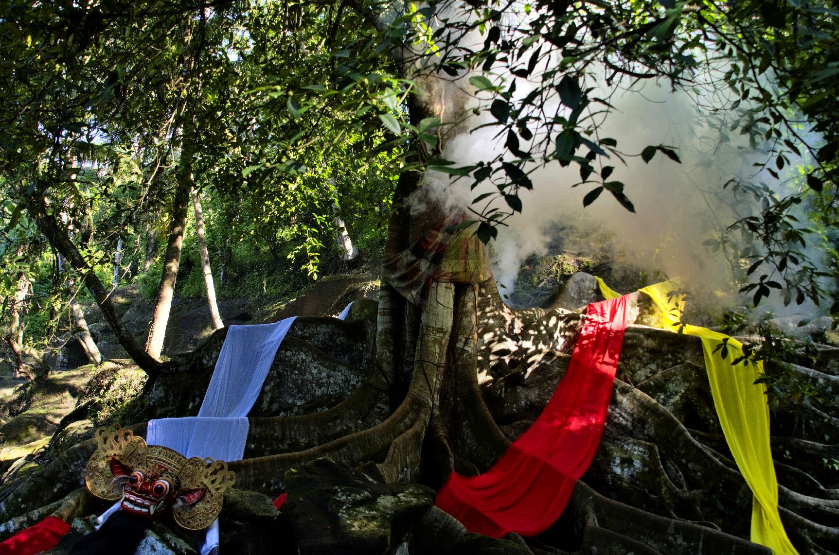 Tapel Barong dibawah pohon by arthamade