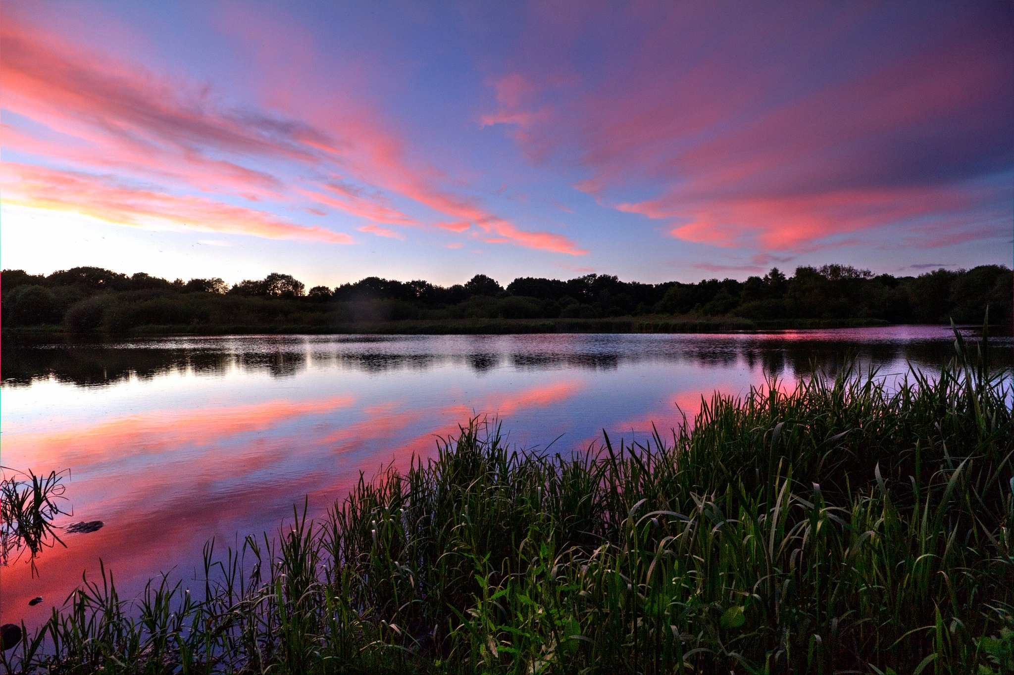 sunset over Half moon lake by Jason Lavine