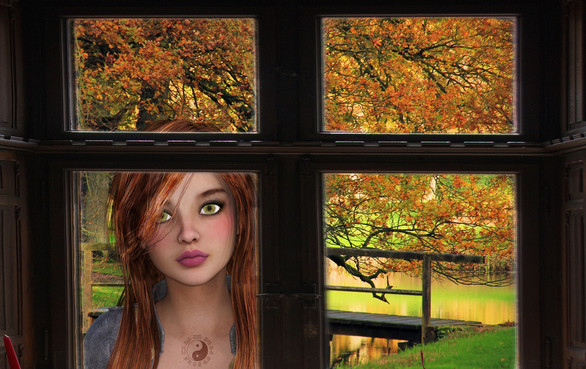 The girl behind the window by Cor.G.  Amature Photographer
