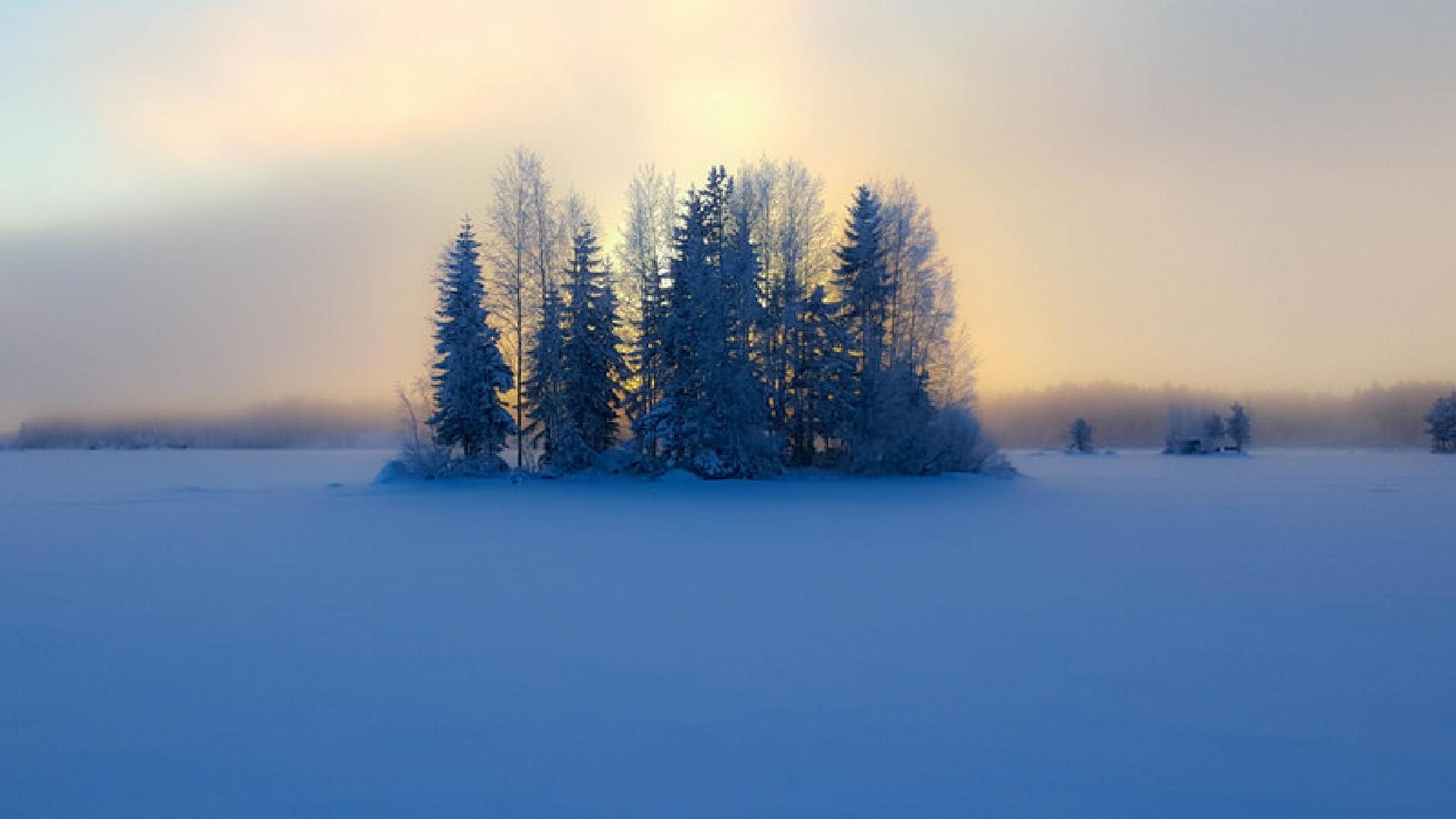 Frozen island by Kari Aho