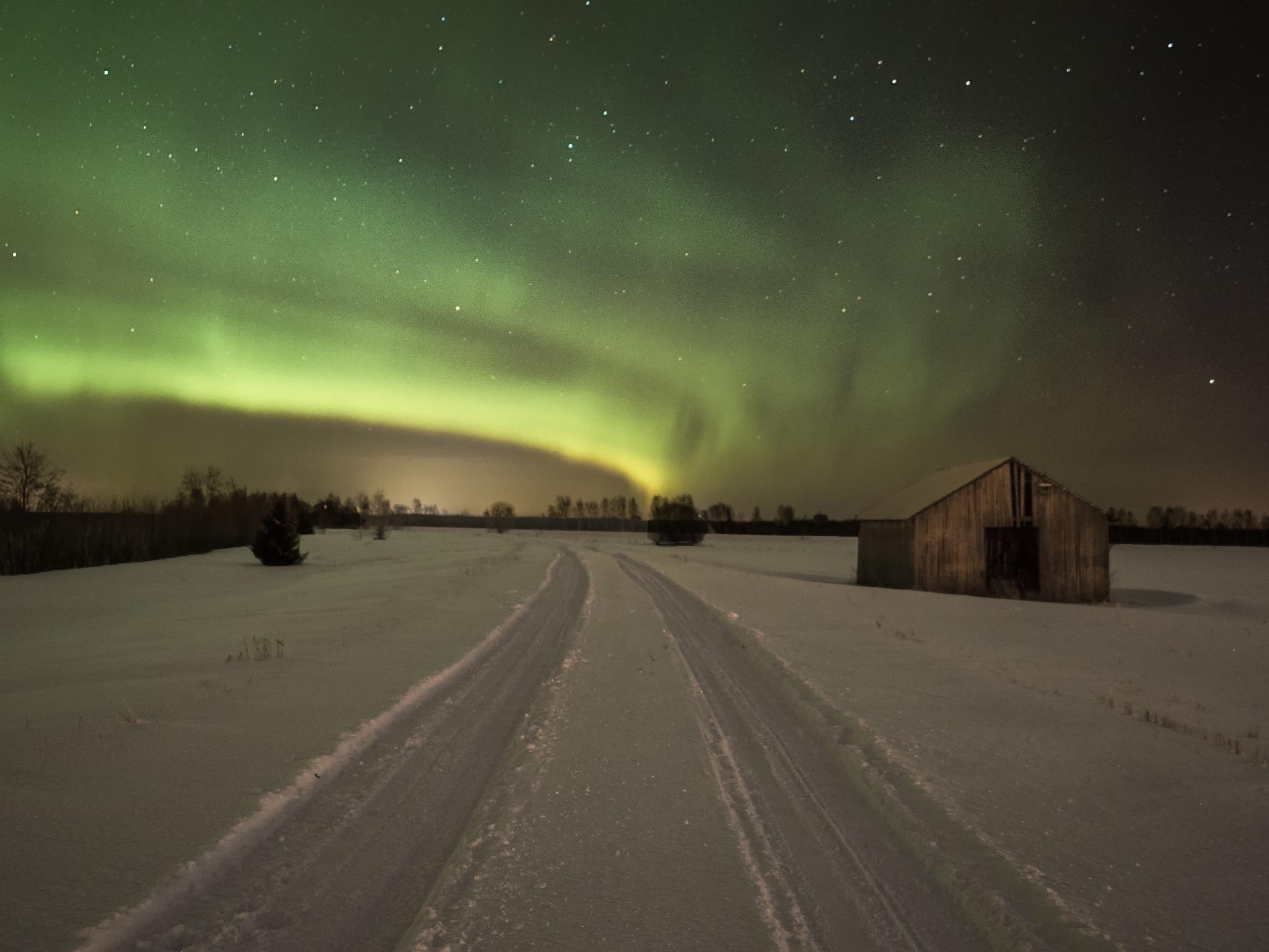 Winter night by Kari Aho