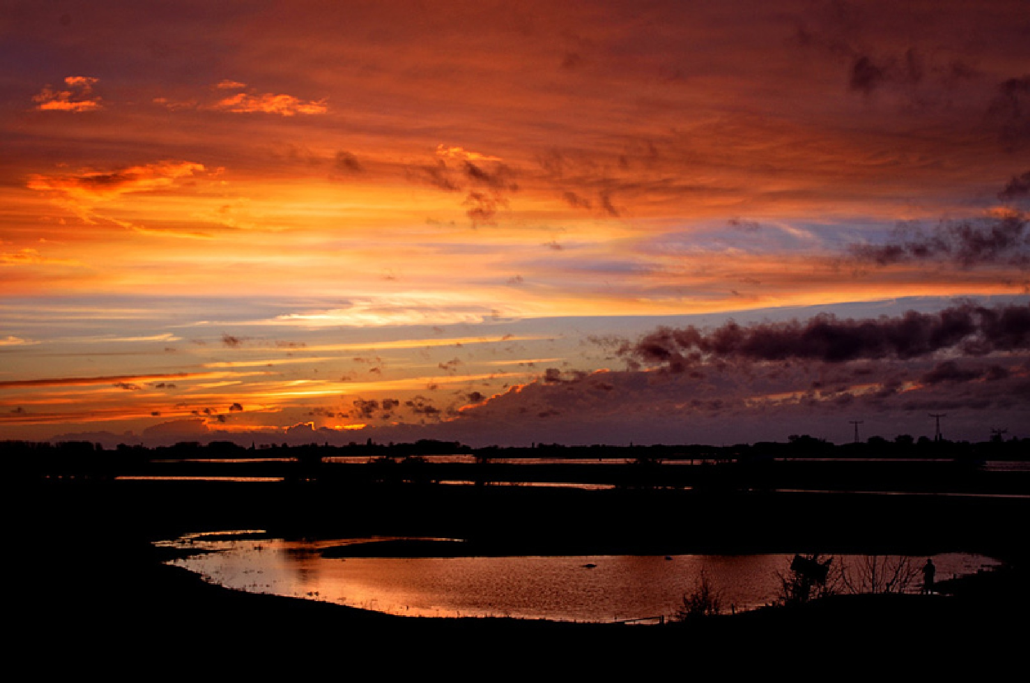 sunset on the riverbanks by bep.roggeveen
