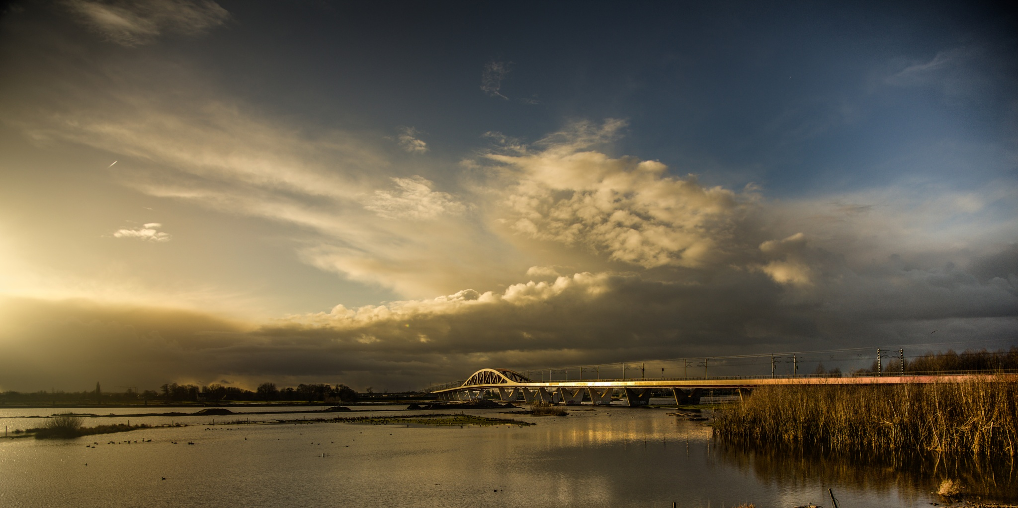 The IJssel  Zwolle The Netherlands by Mirjam Slotman-Martin
