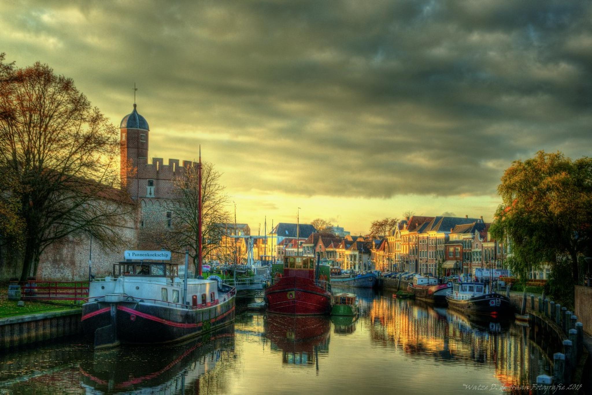 Before sunset Zwolle Netherlands II by Watze D. de Haan