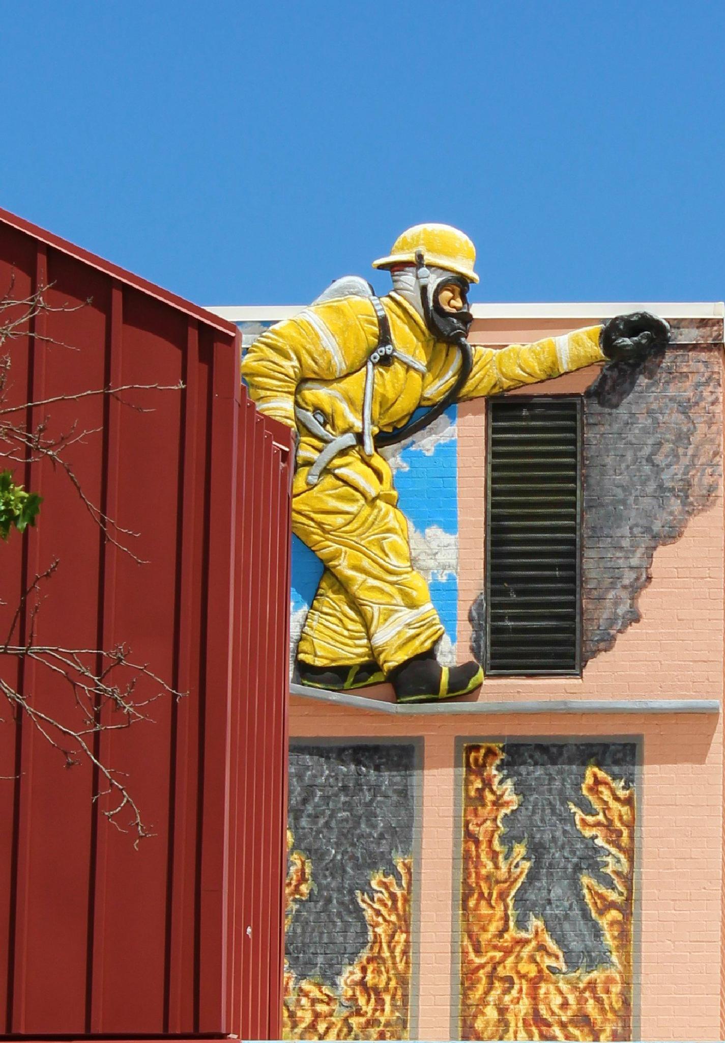 Fireman Mural by Lucretia Bittner