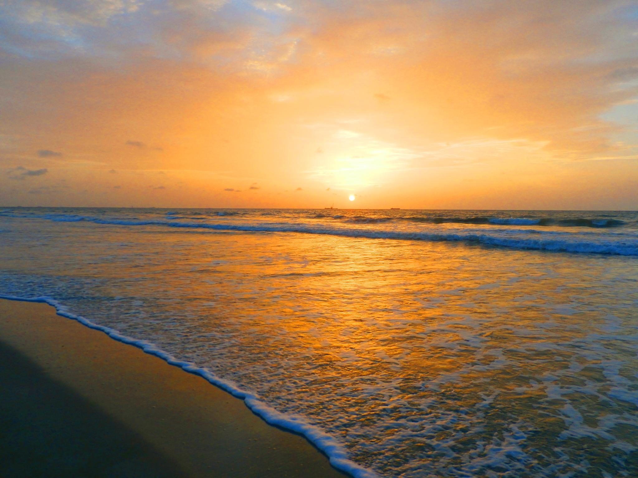 Sunrise over Ocean by Julie