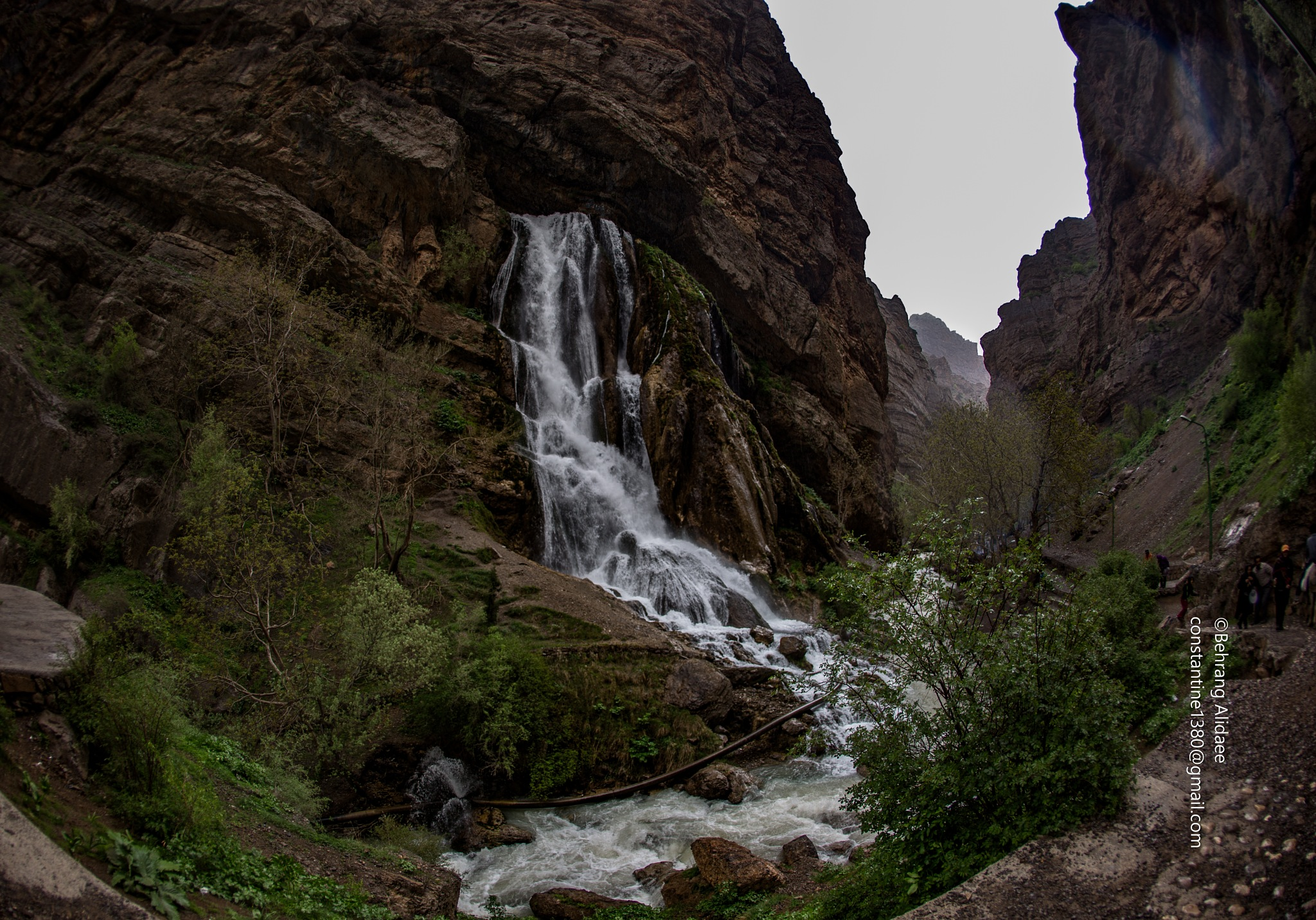 Ab Sefid Water Fall by Behrang Alidaee
