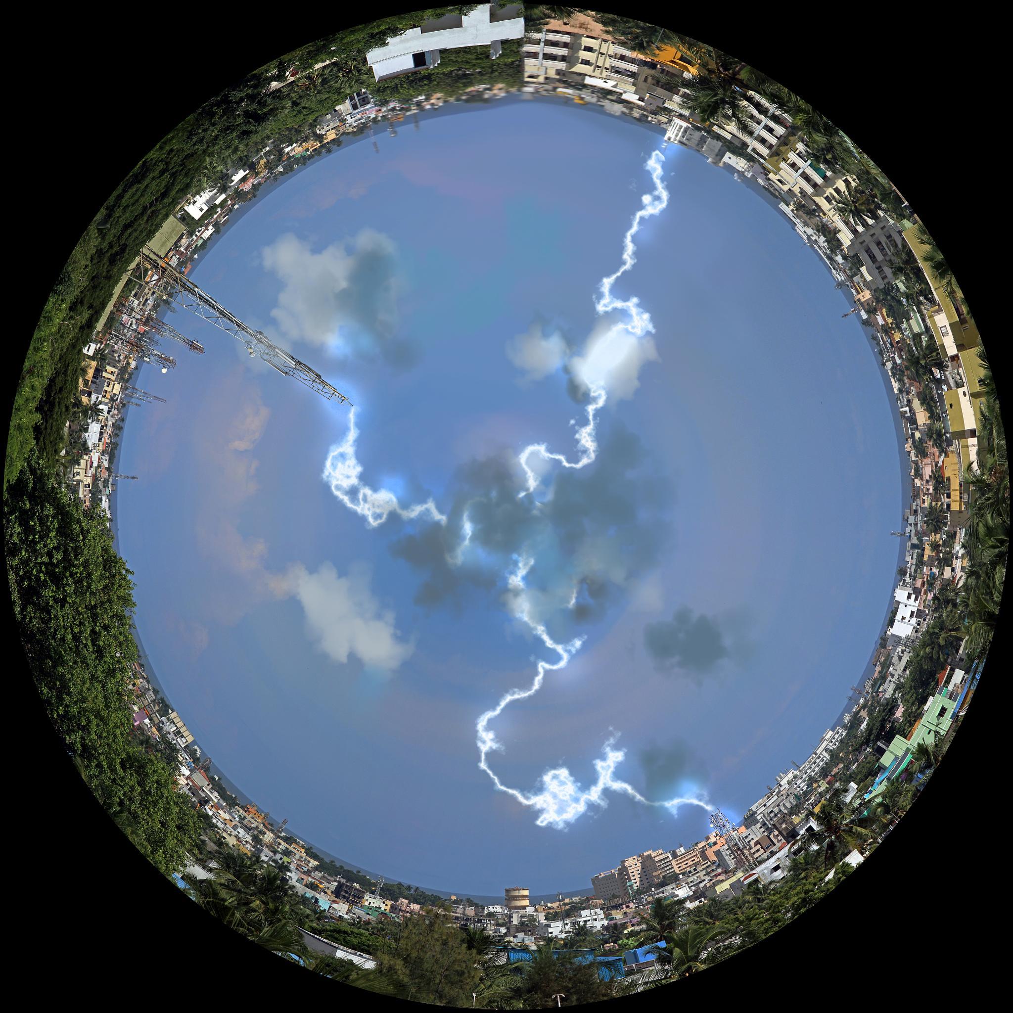 Lightning in the tunnel town by Karthik Easvur