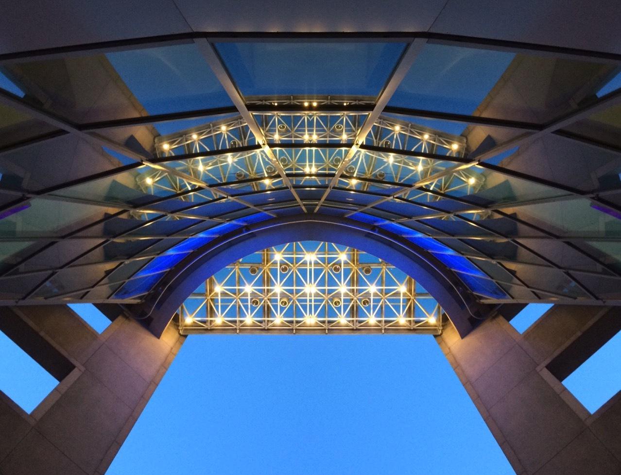 Photo in Architecture #architecture #blue hour #singapore #bestphotos1962 #bestphotos1962 #steven best photography #architectural #building