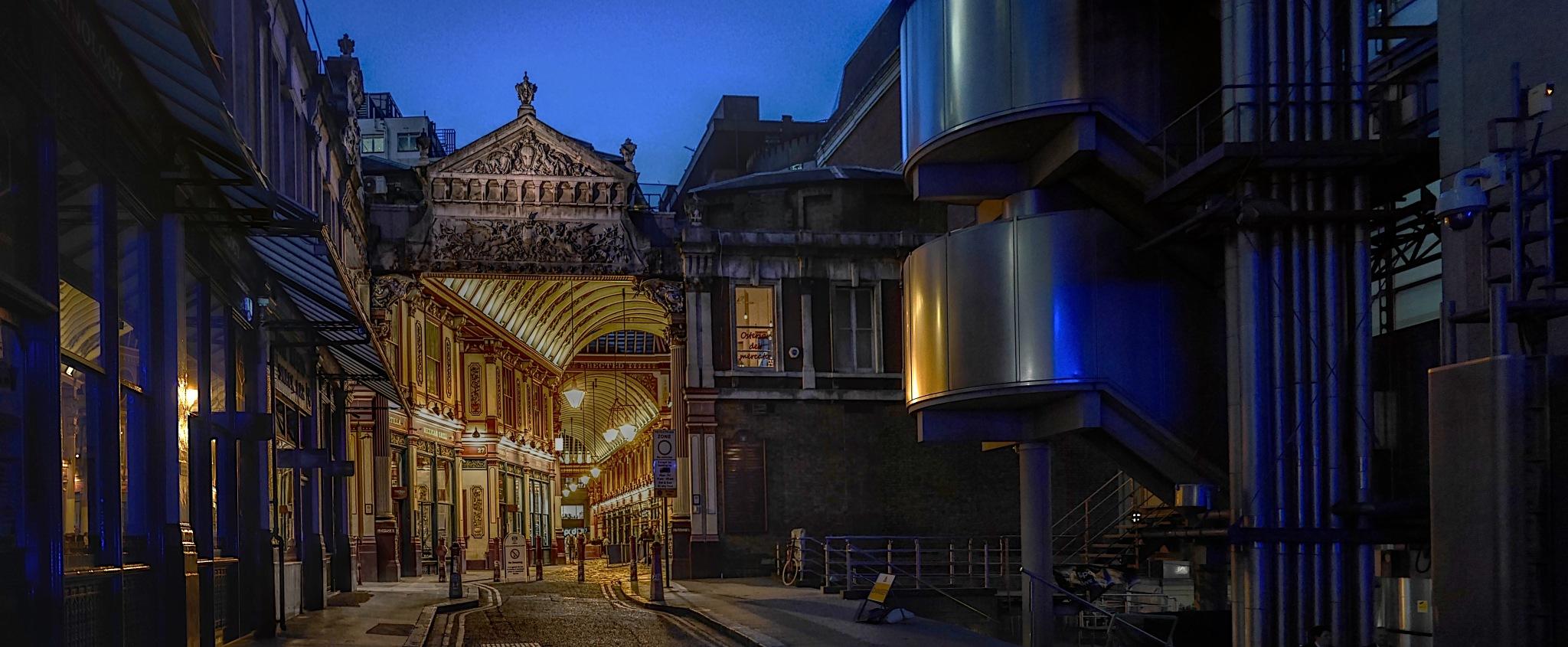 Lloyds of Rework of London building leading into Leadenhall Market by Steven Best