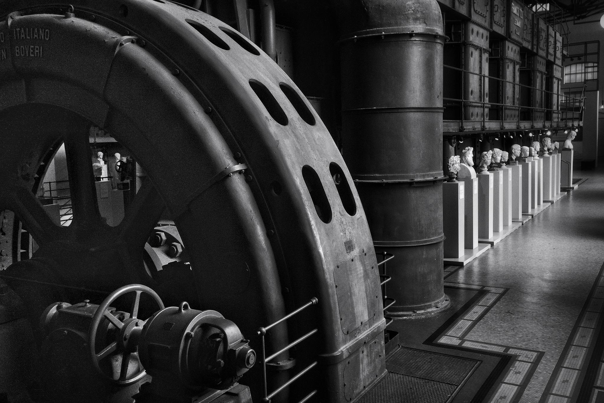 Photo in Black and White #street #art #machines #cityscape #urban #b&w #black&white #roma #rome #italy #museim