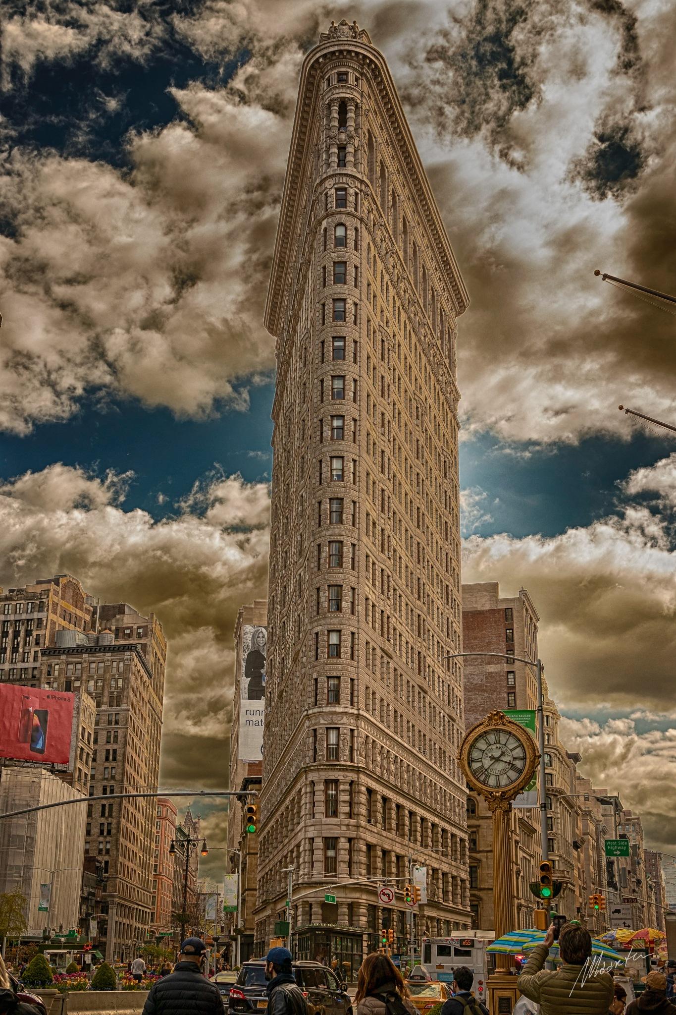 Flatiron Building New York... HDR over the top? by Maarten Hendriks