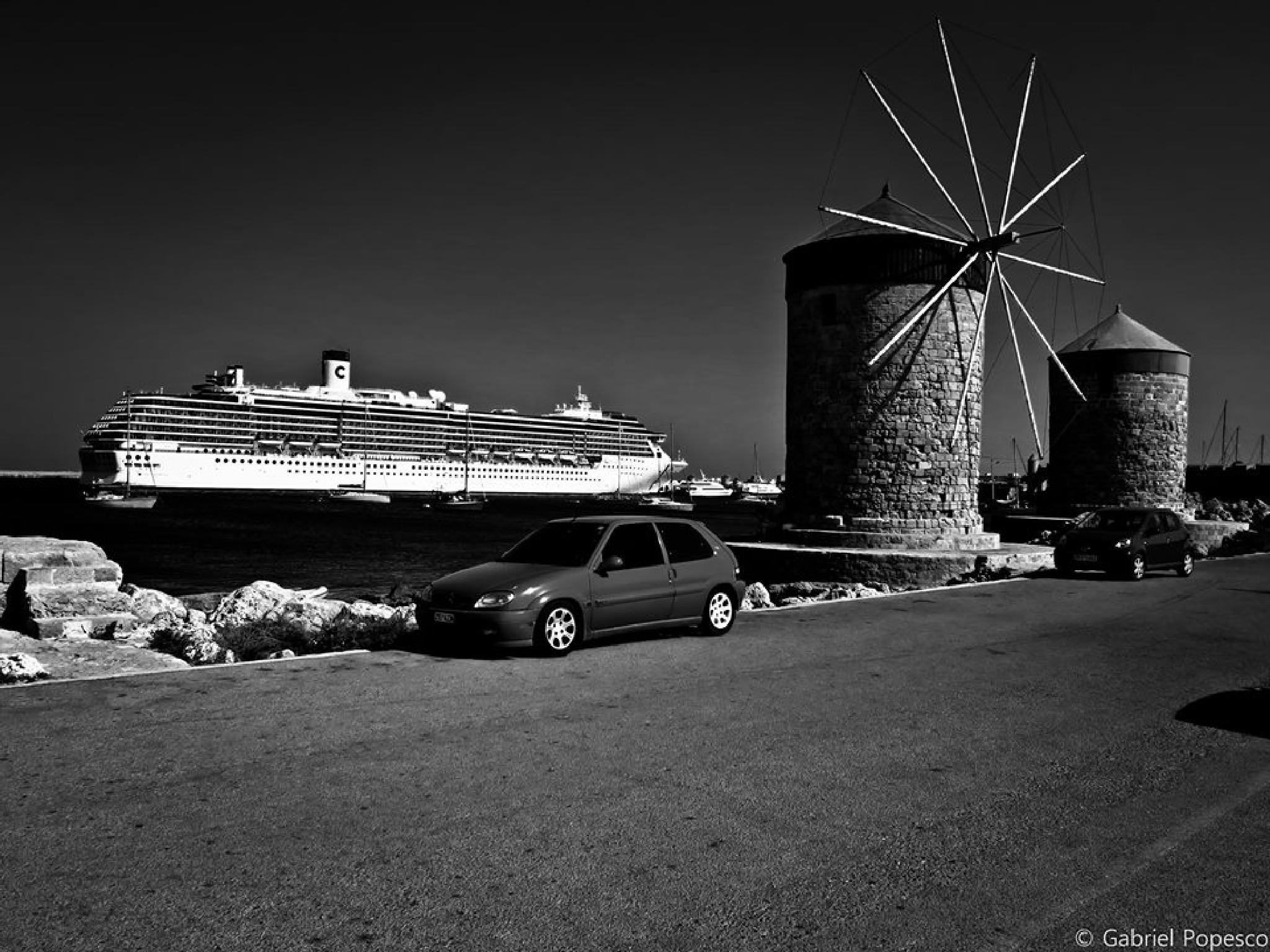 Old wind mills by Gabriel Popescu
