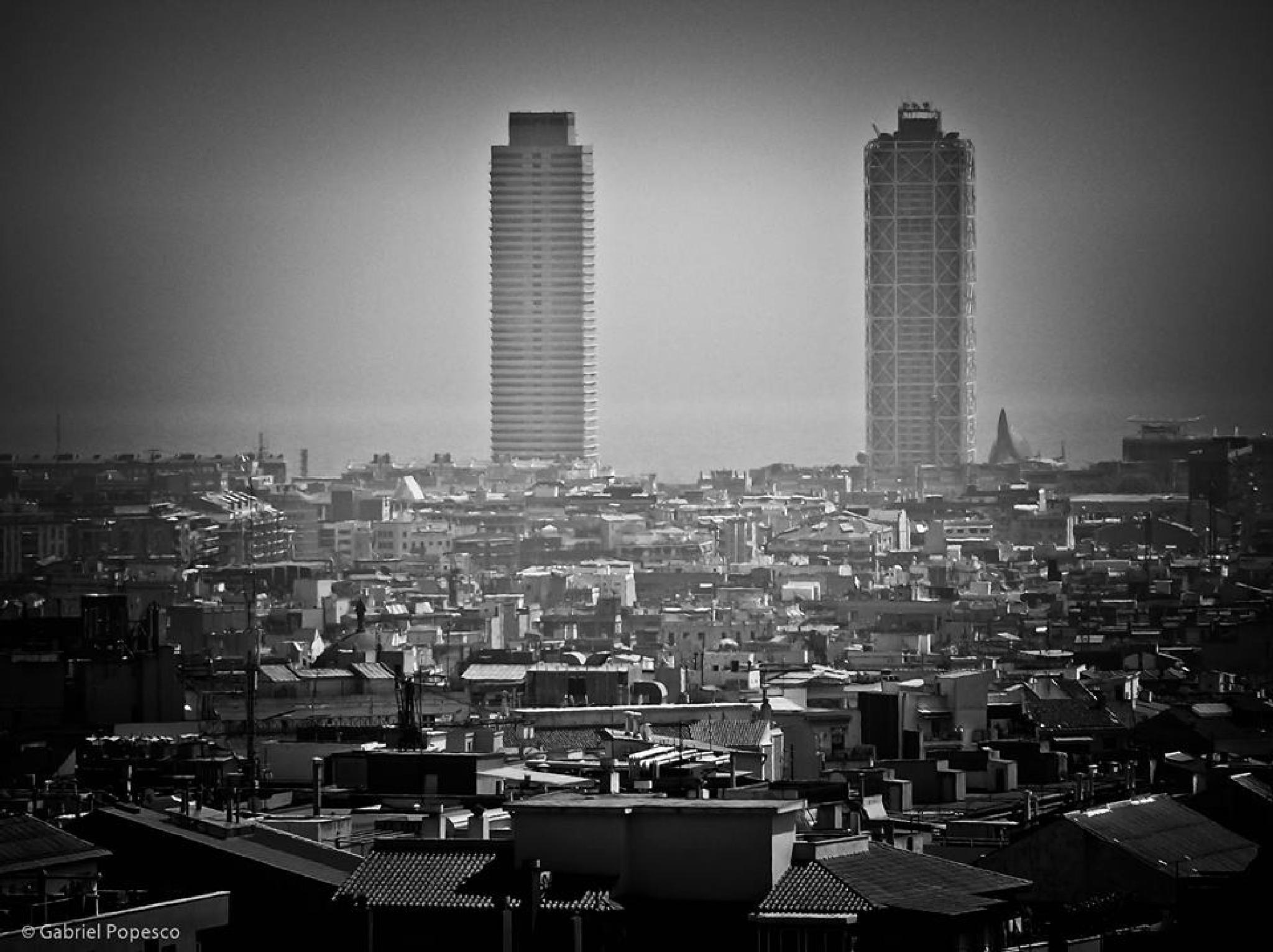 Barcelona Twin Towers by Gabriel Popescu