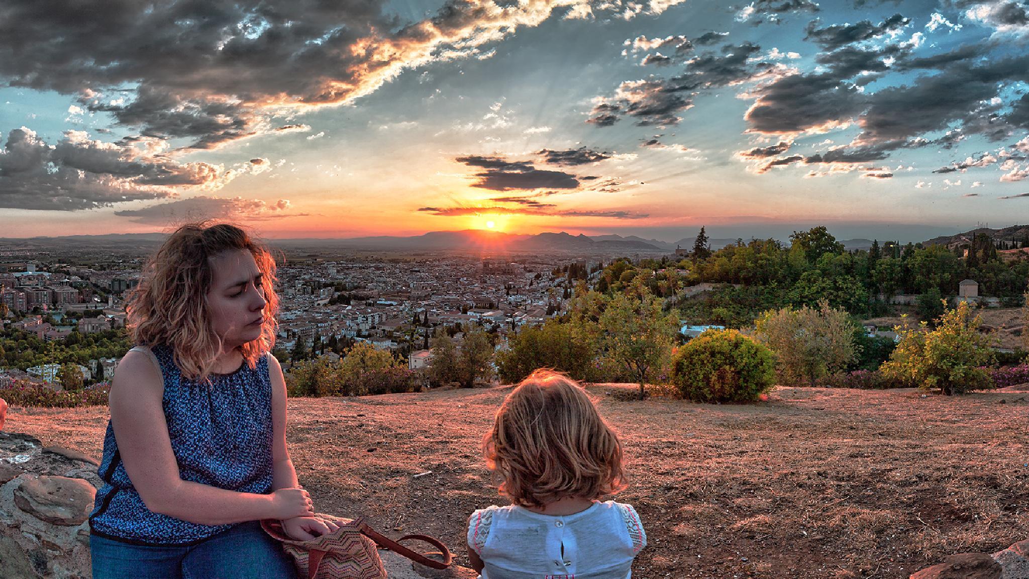 Watching th sunset in Granada, Spain by Francisco J Pérez Herrera