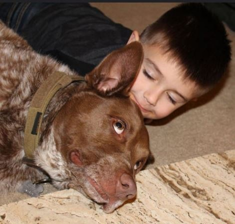 a boy and his dog by Tracie
