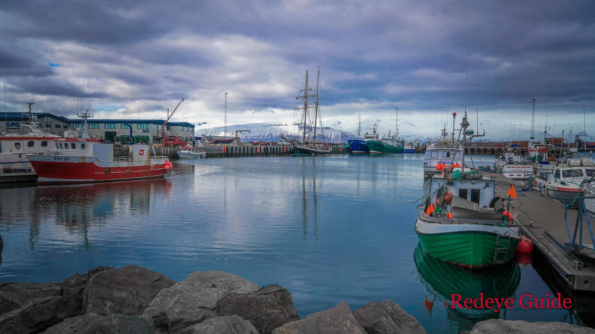 Husavic Port by Kapten Redeye