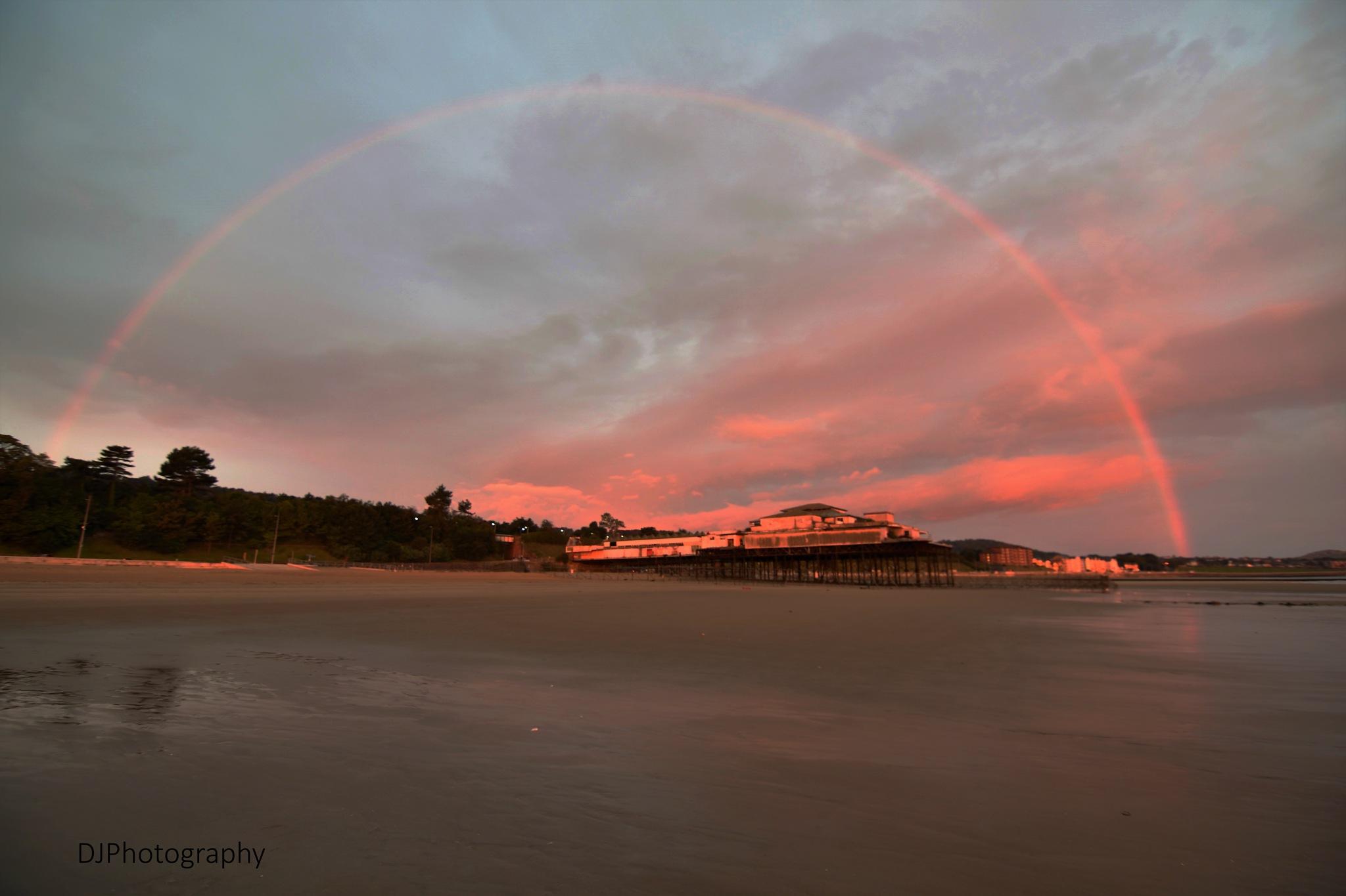 Rainbow sunrise,Colwyn Bay by smudgesmat