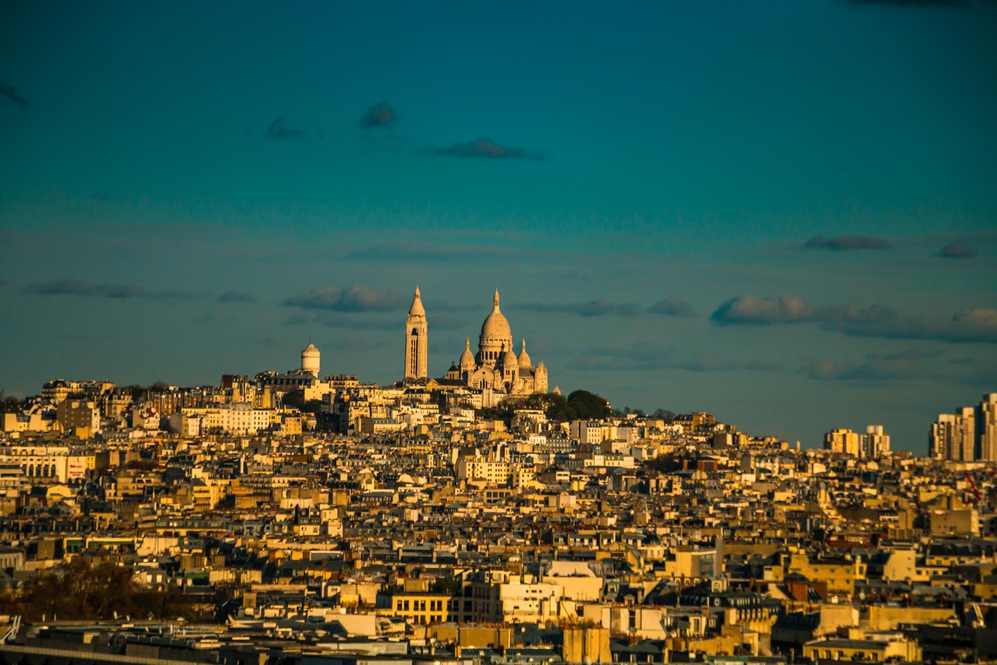 Le sacré coeur, Montmartre by djaffar adane