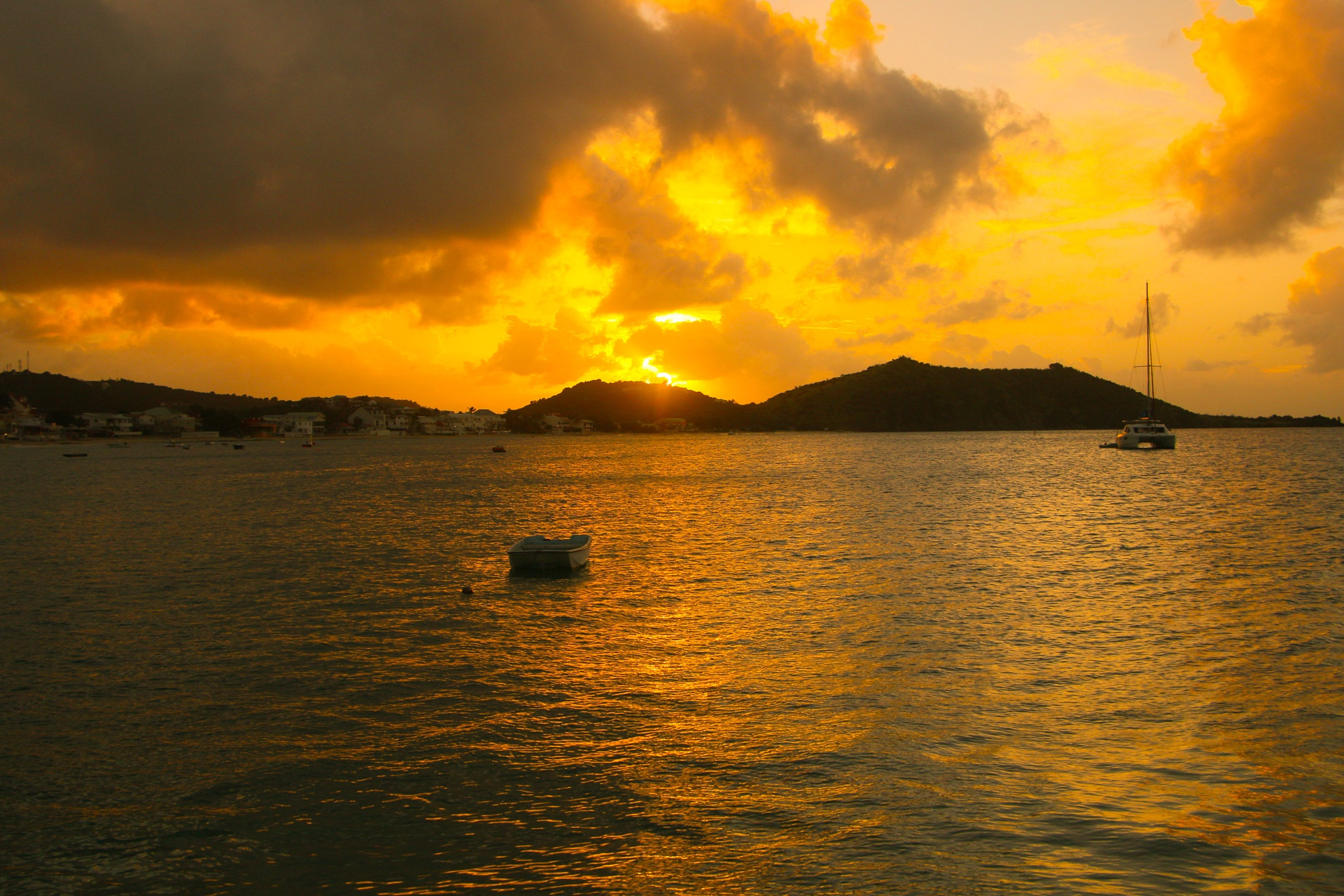 Photo in Sea and Sand #sescape #sunset #saint martin