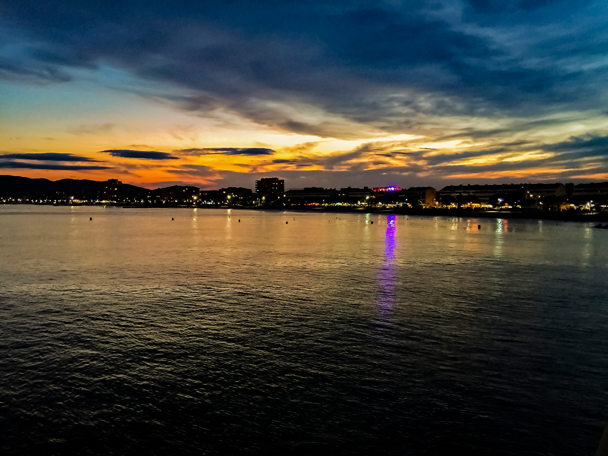 Sunset on the bay by djaffar adane