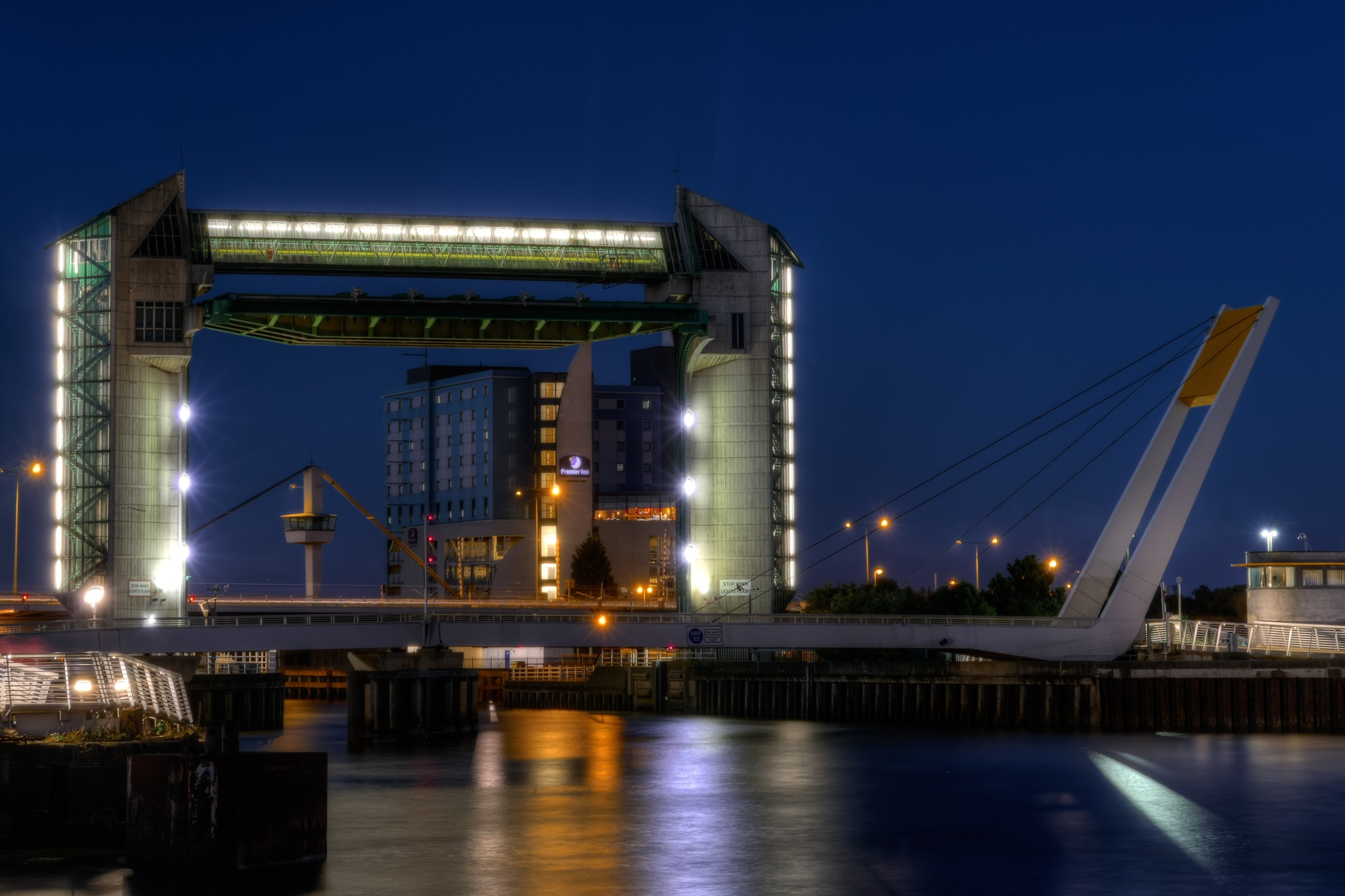 River Hull At Night by Peter Suggitt