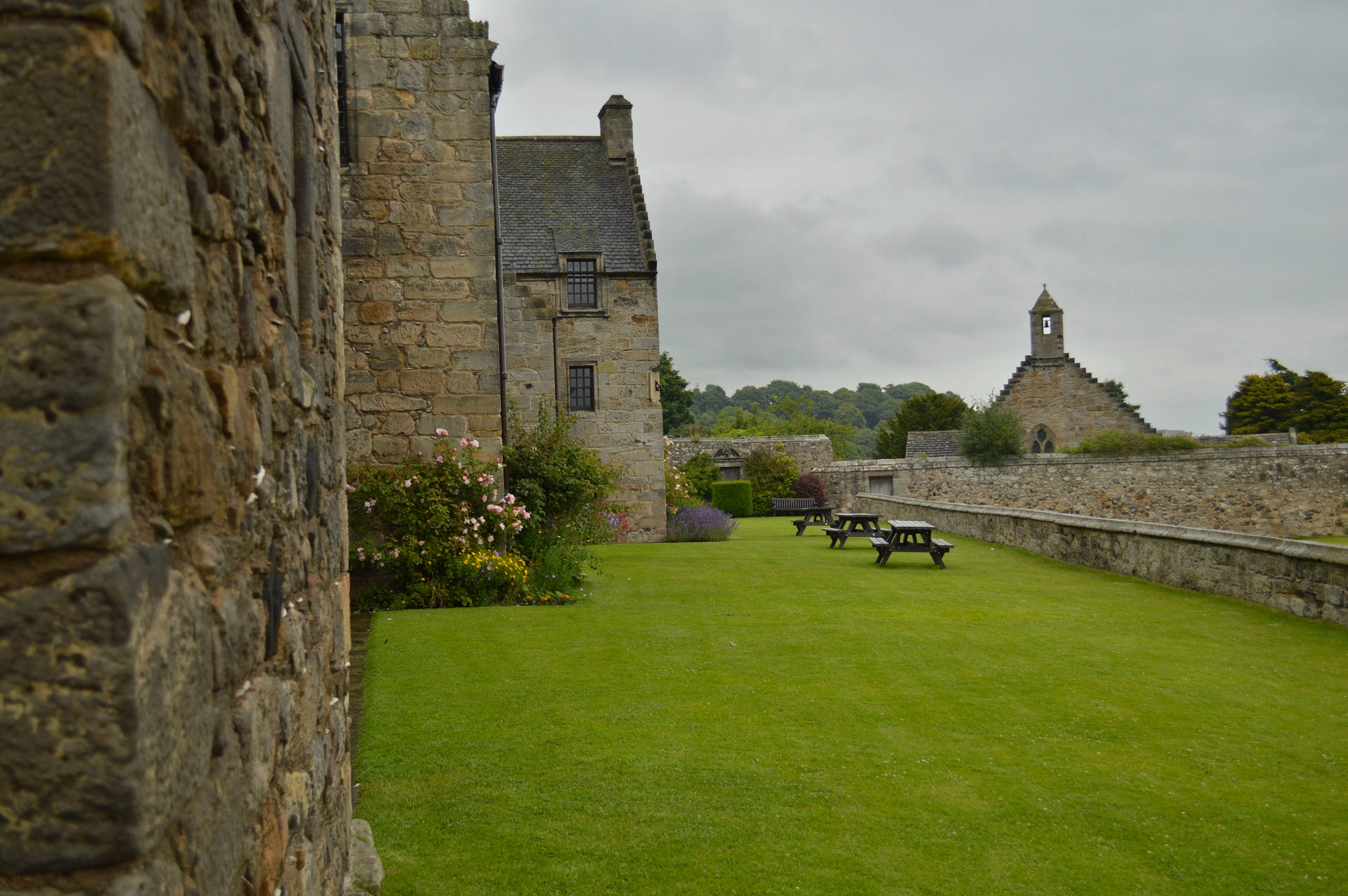 Grounds of Aberdour Castle by John White