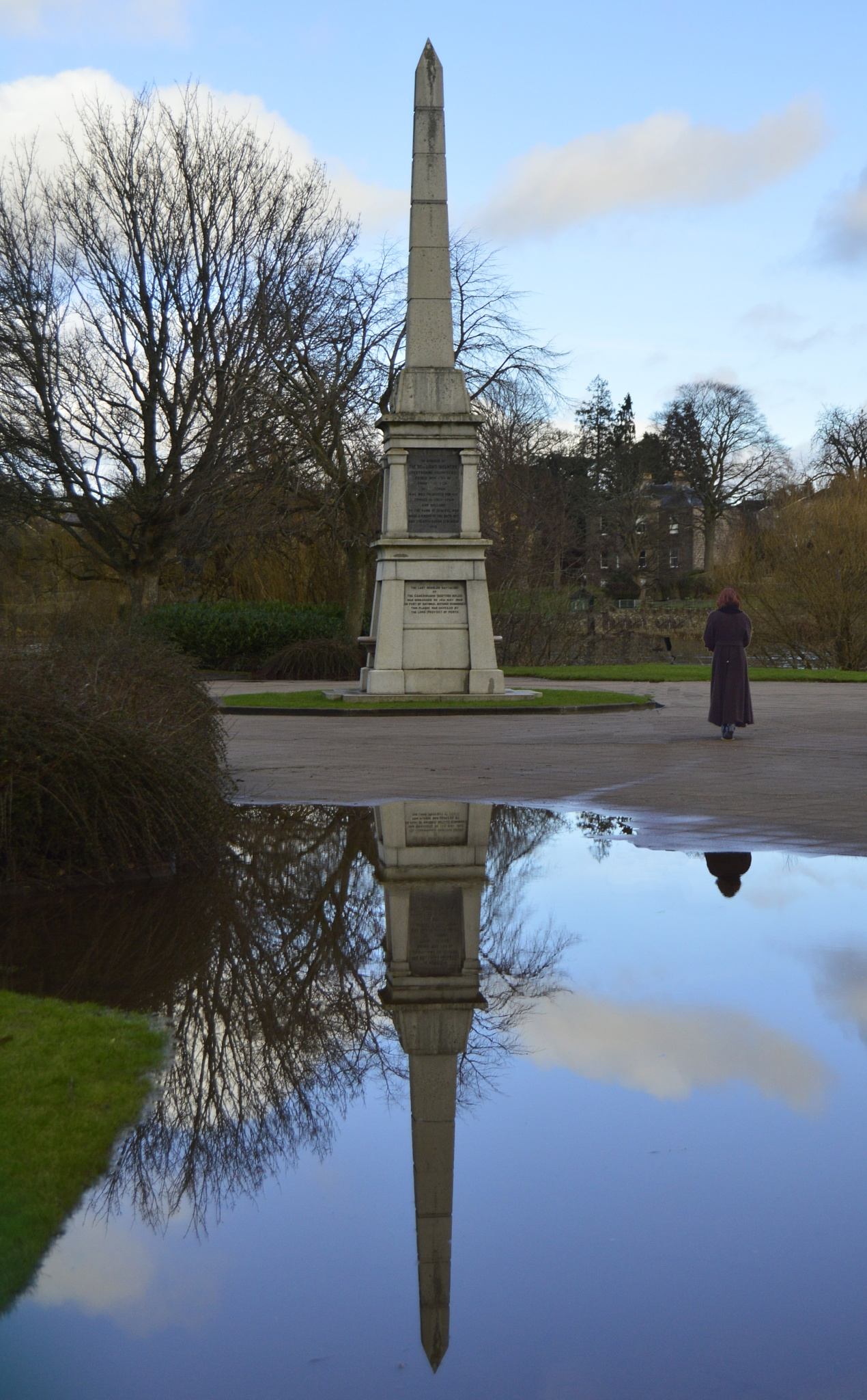 Reflection in a puddle by John White