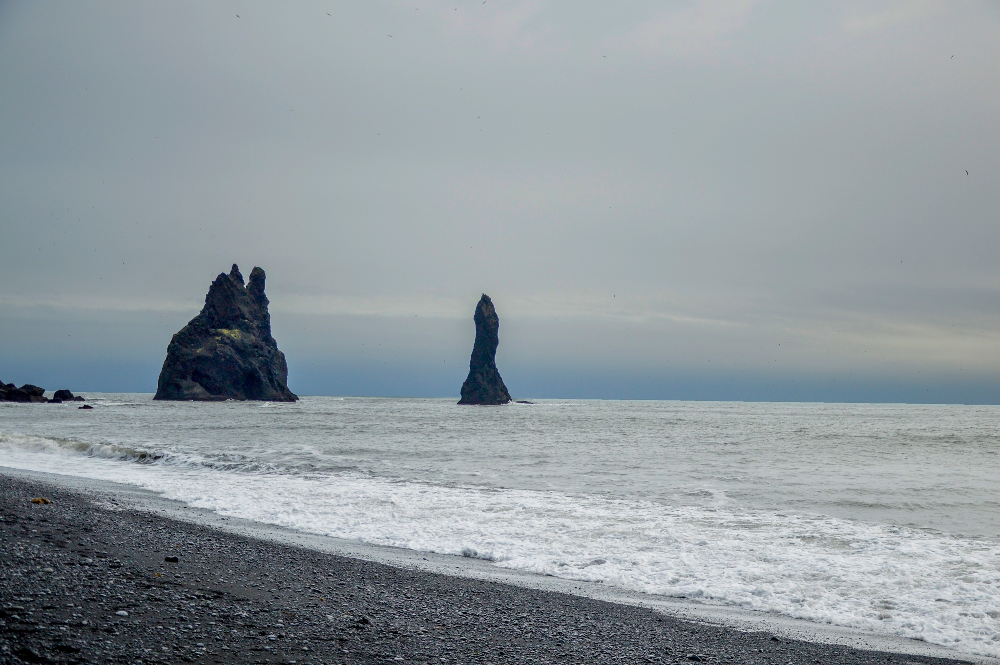 The black beach, Vik, Iceland by John White