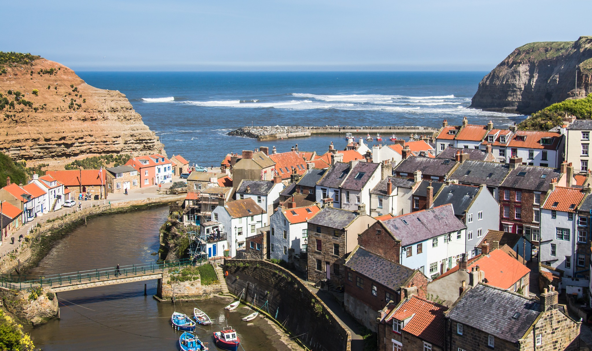 Staithes Harbour by Mole59