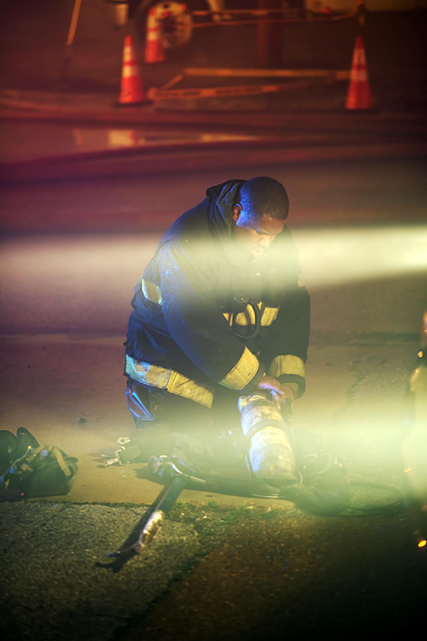 Photo in Journalism #fire #firemen #fireman #smoke #st.louis #missouri