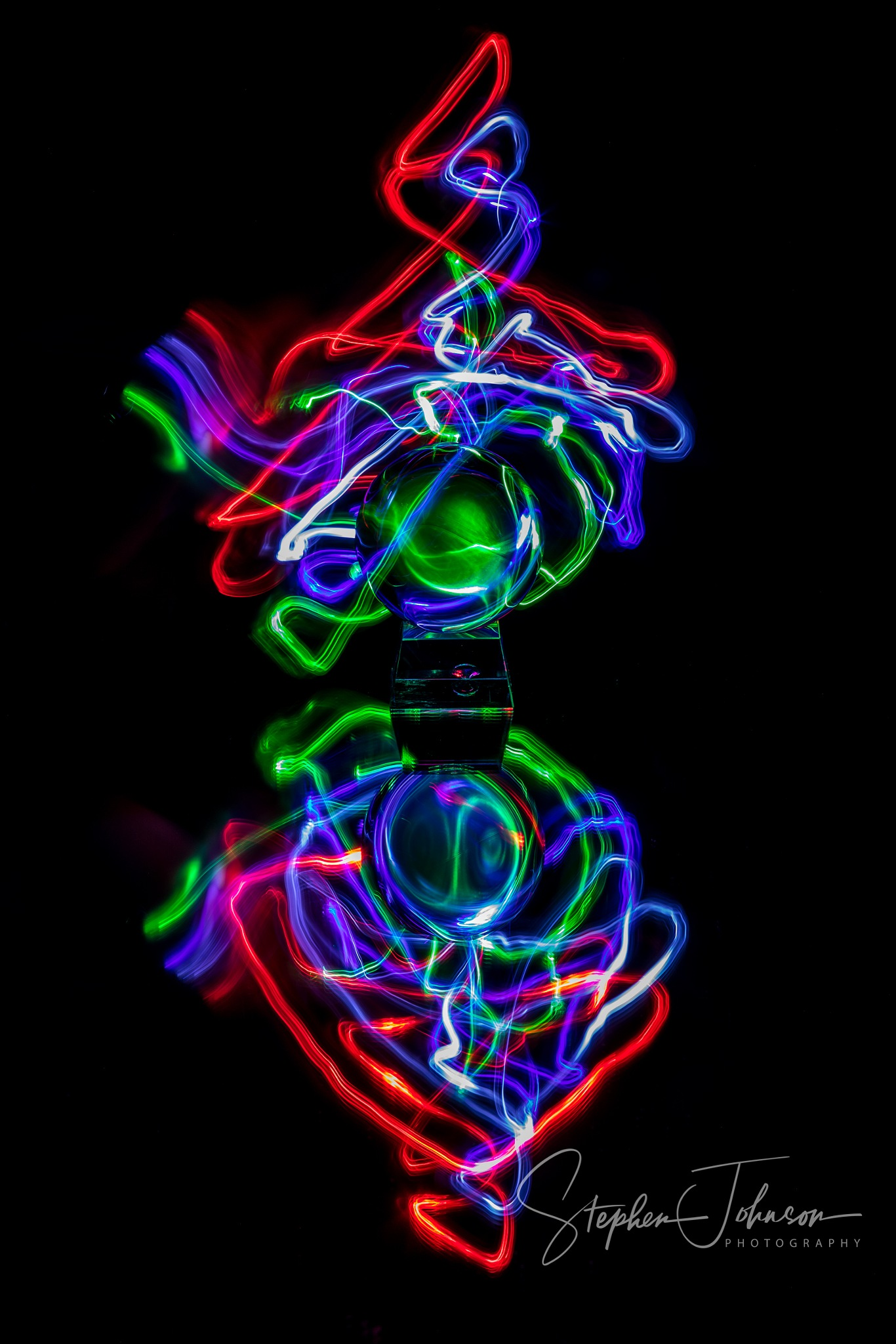 Light painting by Stephen Johnson Photography