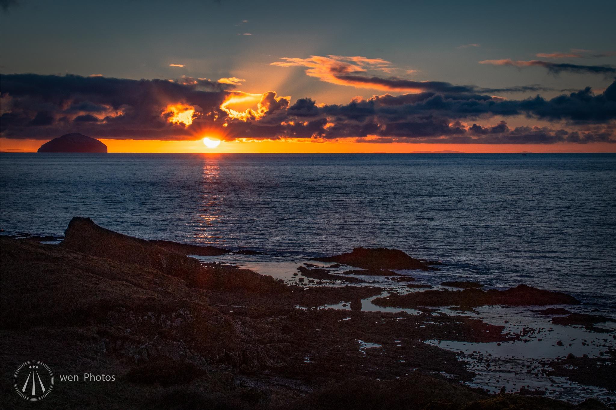 Photo in Landscape #sunsets #ailsa craig #dunure #ayrshire #scotland