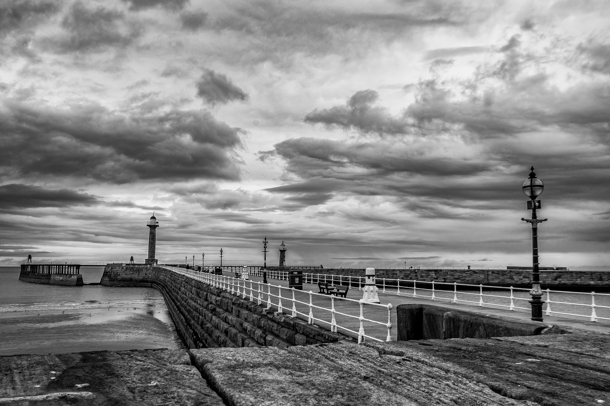 West Pier @ Whitby by D Whitehead