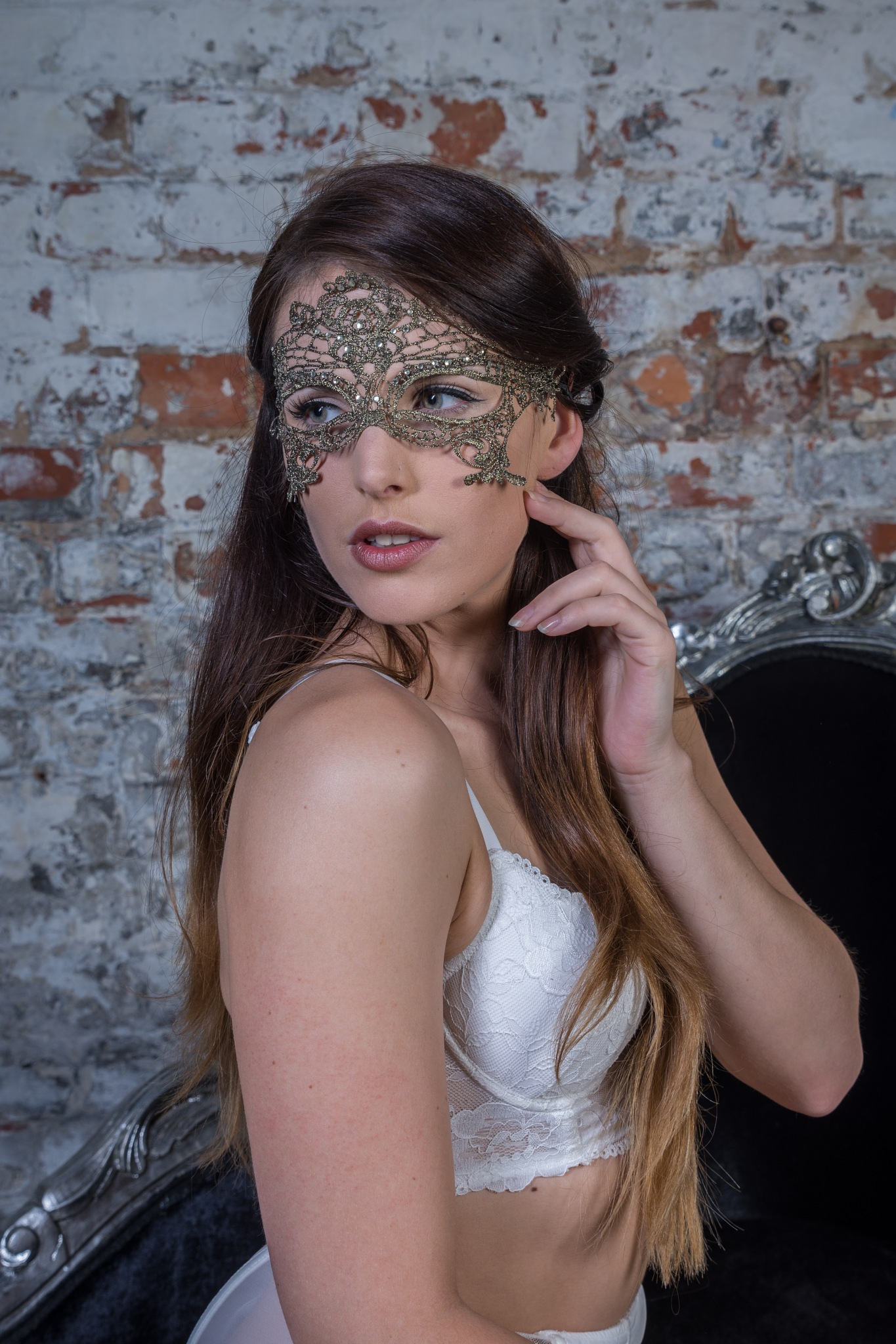 Lace mask by D Whitehead