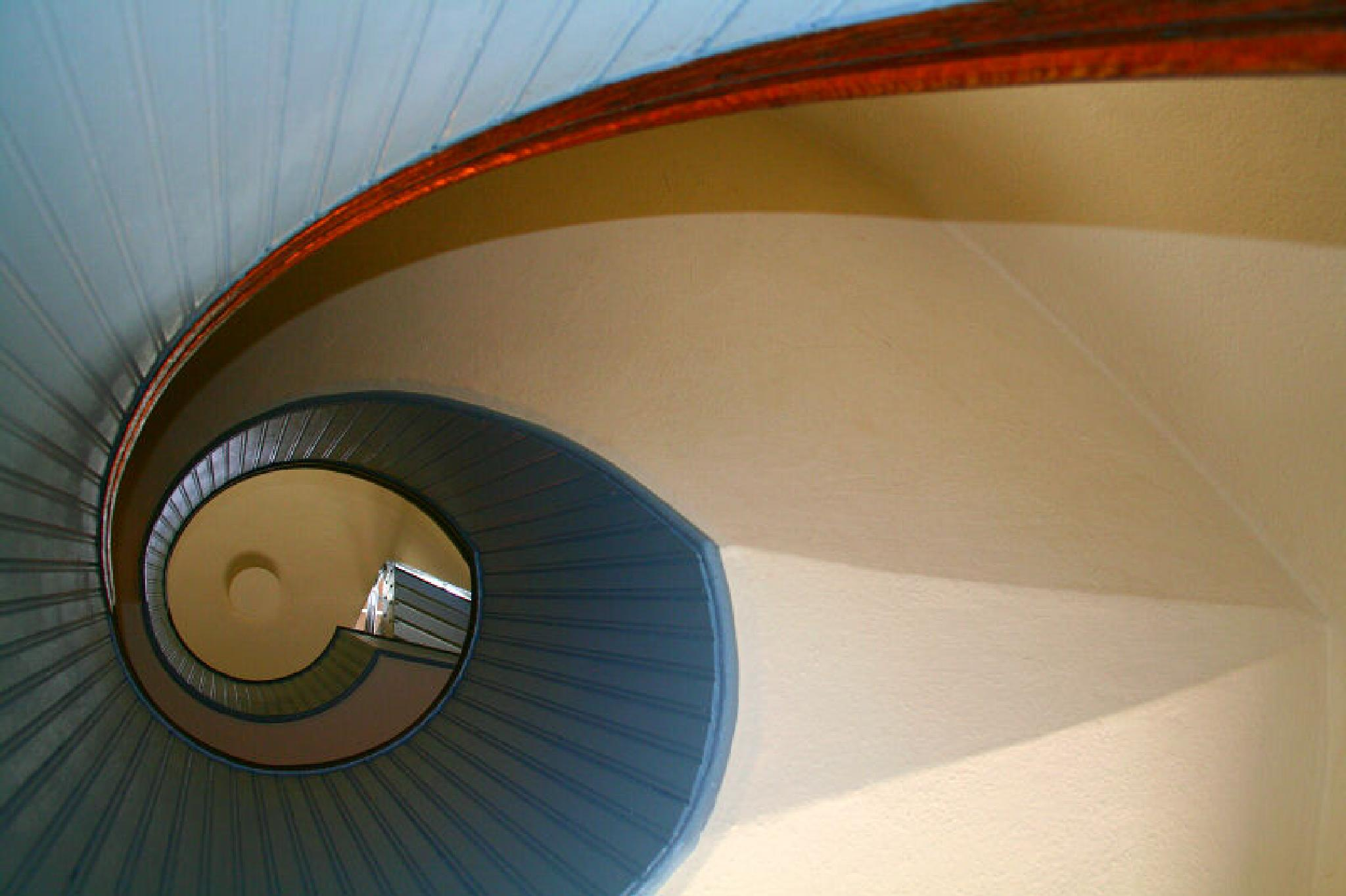 Photo in Interior #staircase #stairwell #light house #spiral #san diego #abstract