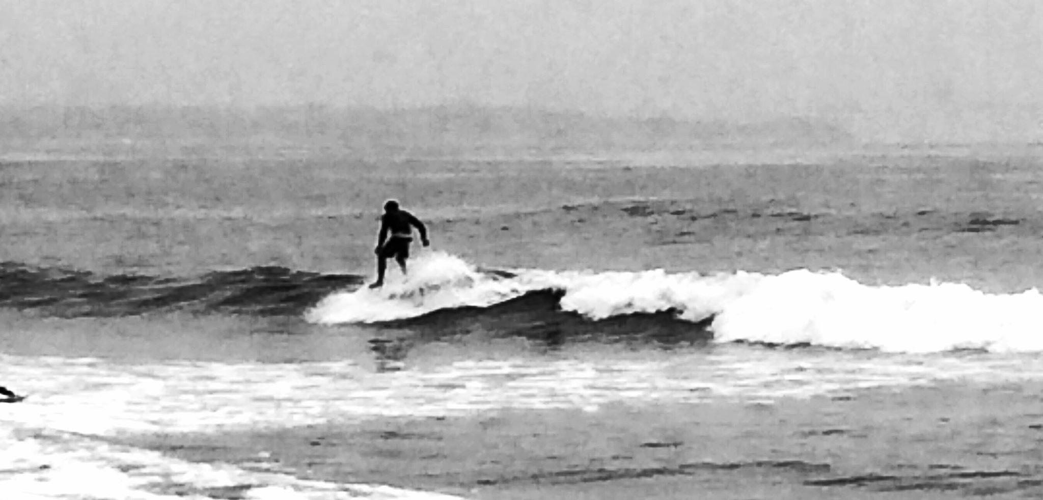 Surfer In B&W by king.chester0
