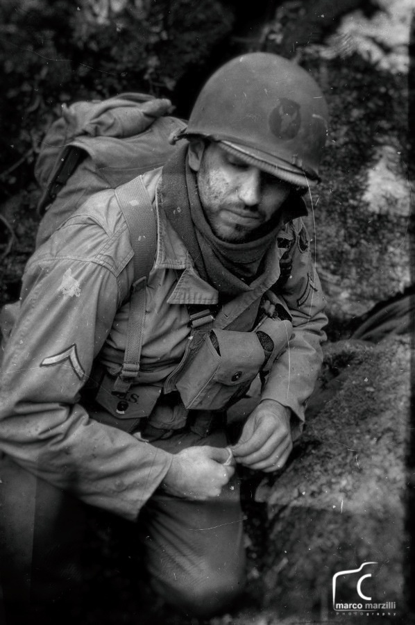 WW2 Reenactment Photo for a movie, Italy by Marco_Marzilli